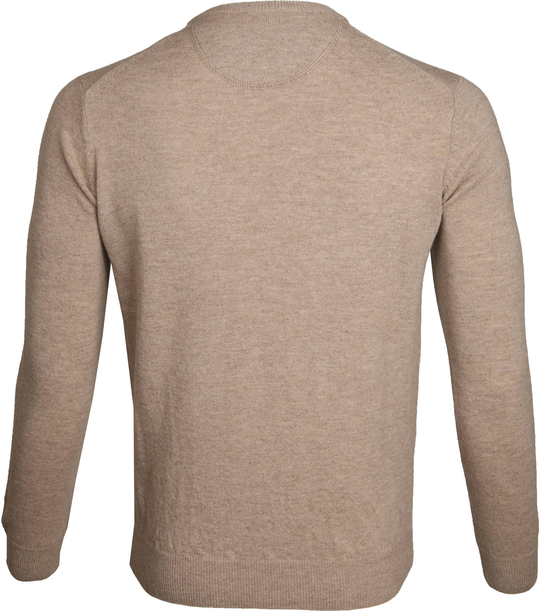 Suitable Pullover Lammwolle V-Ausschnitt Beige foto 2
