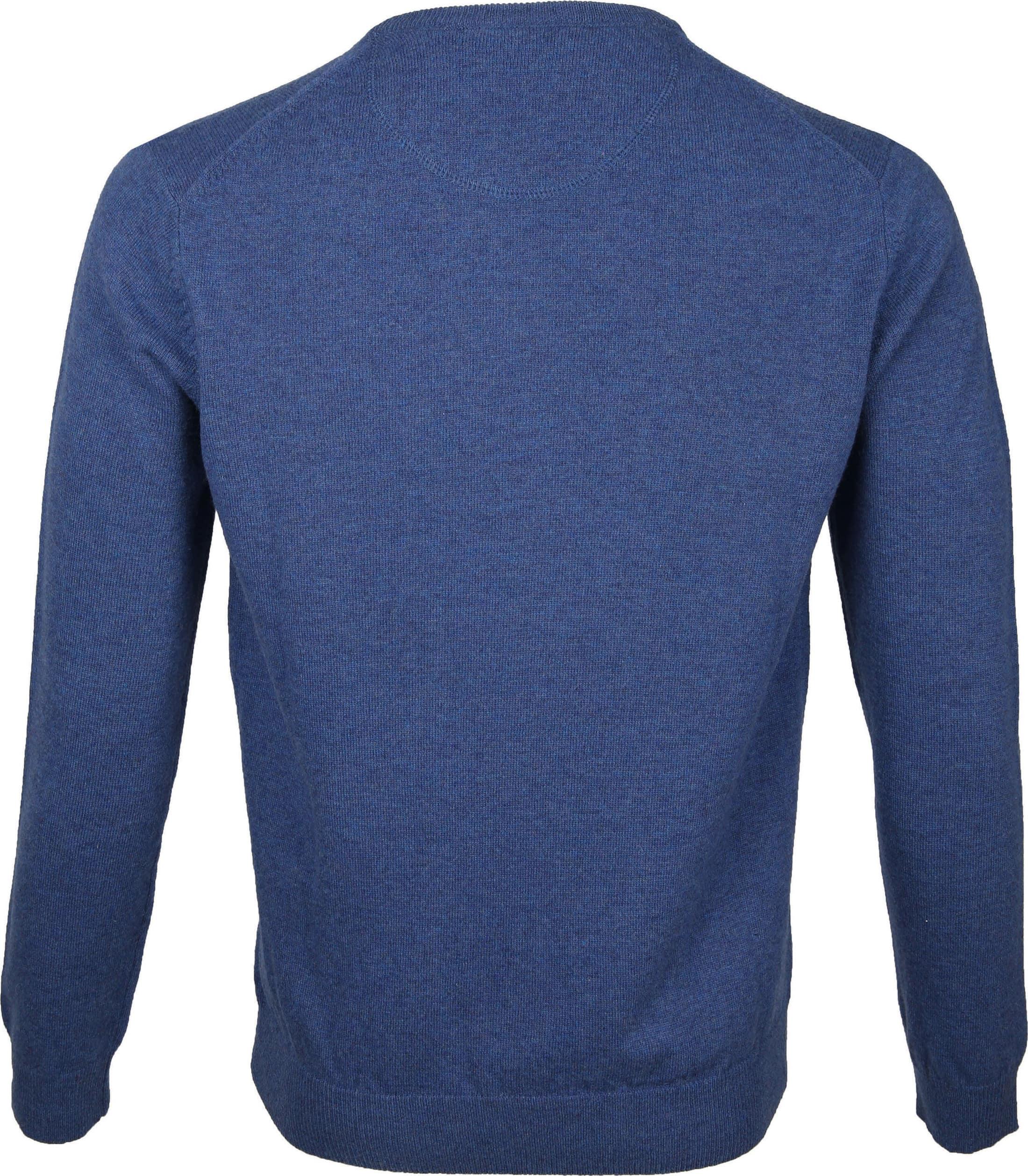Suitable Pullover Lammwolle V-Ausschnitt Blau foto 2
