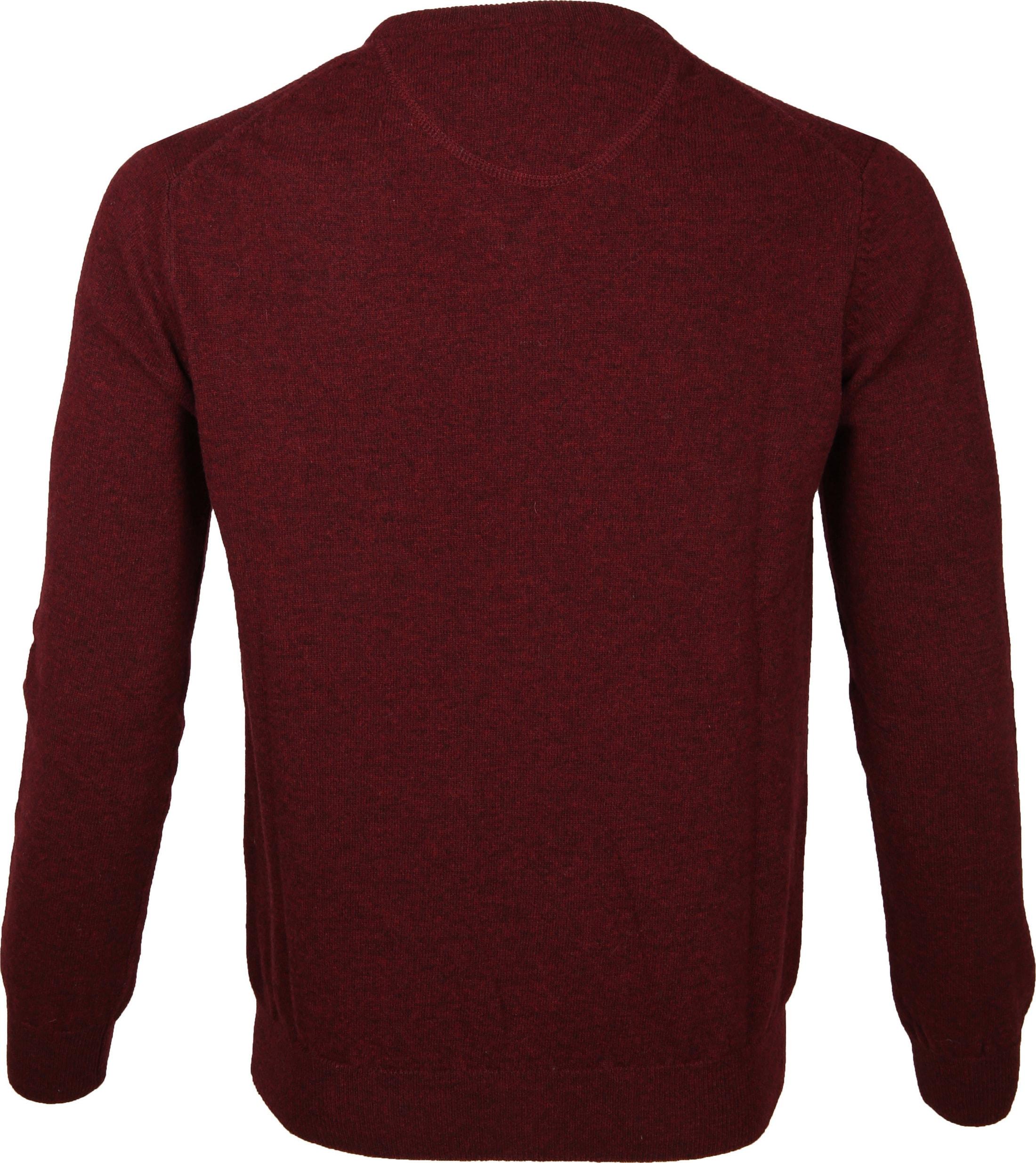 Suitable Pullover Lammwolle V-Ausschnitt Bordeaux foto 2