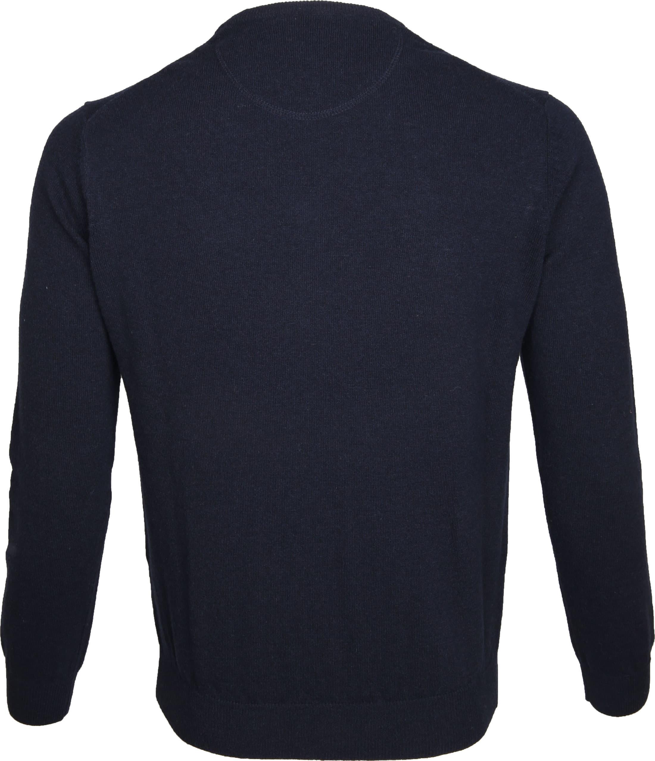Suitable Pullover Lammwolle V-Ausschnitt Dunkelblau foto 2