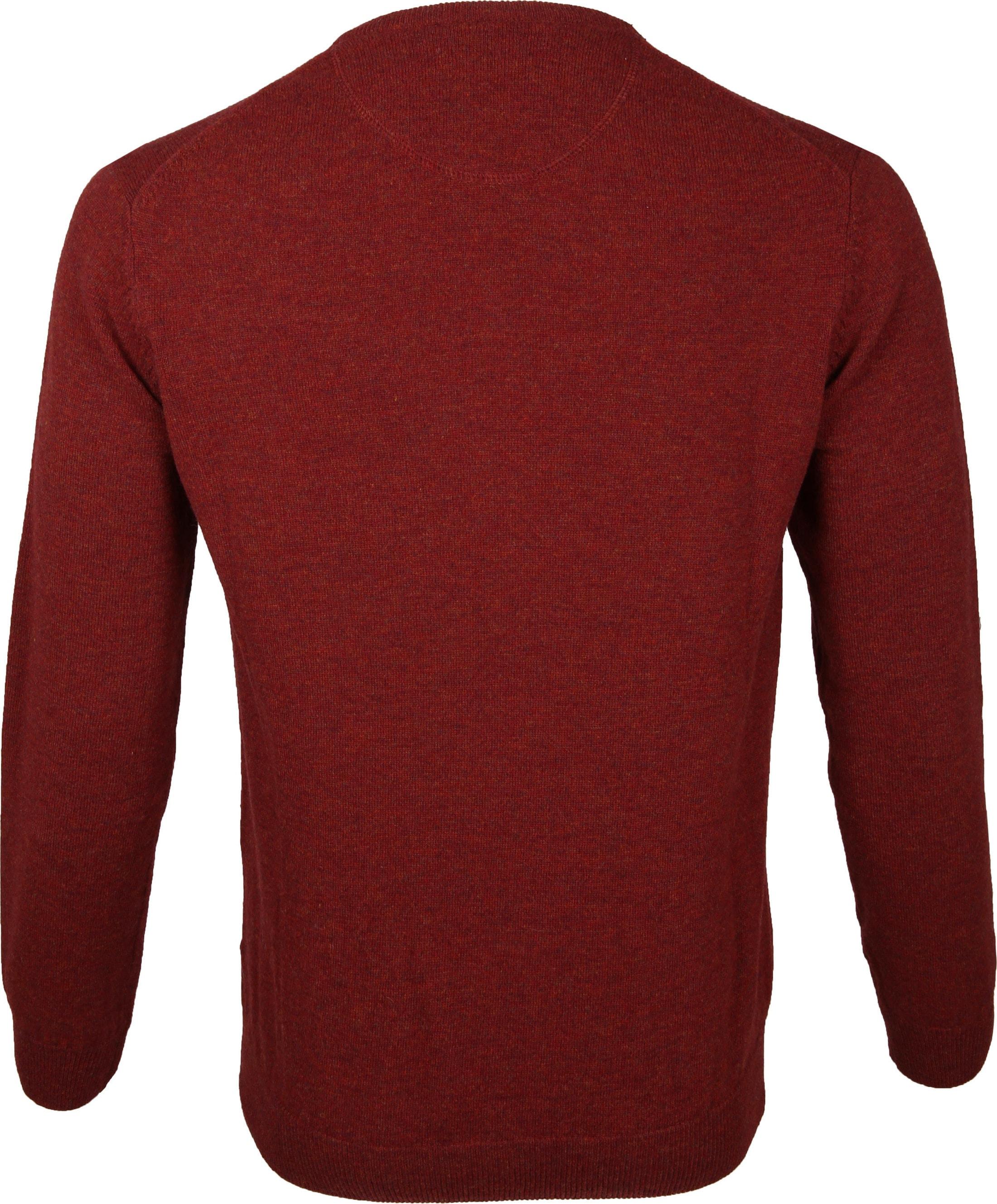 Suitable Pullover Lammwolle V-Ausschnitt Dunkelrot foto 2