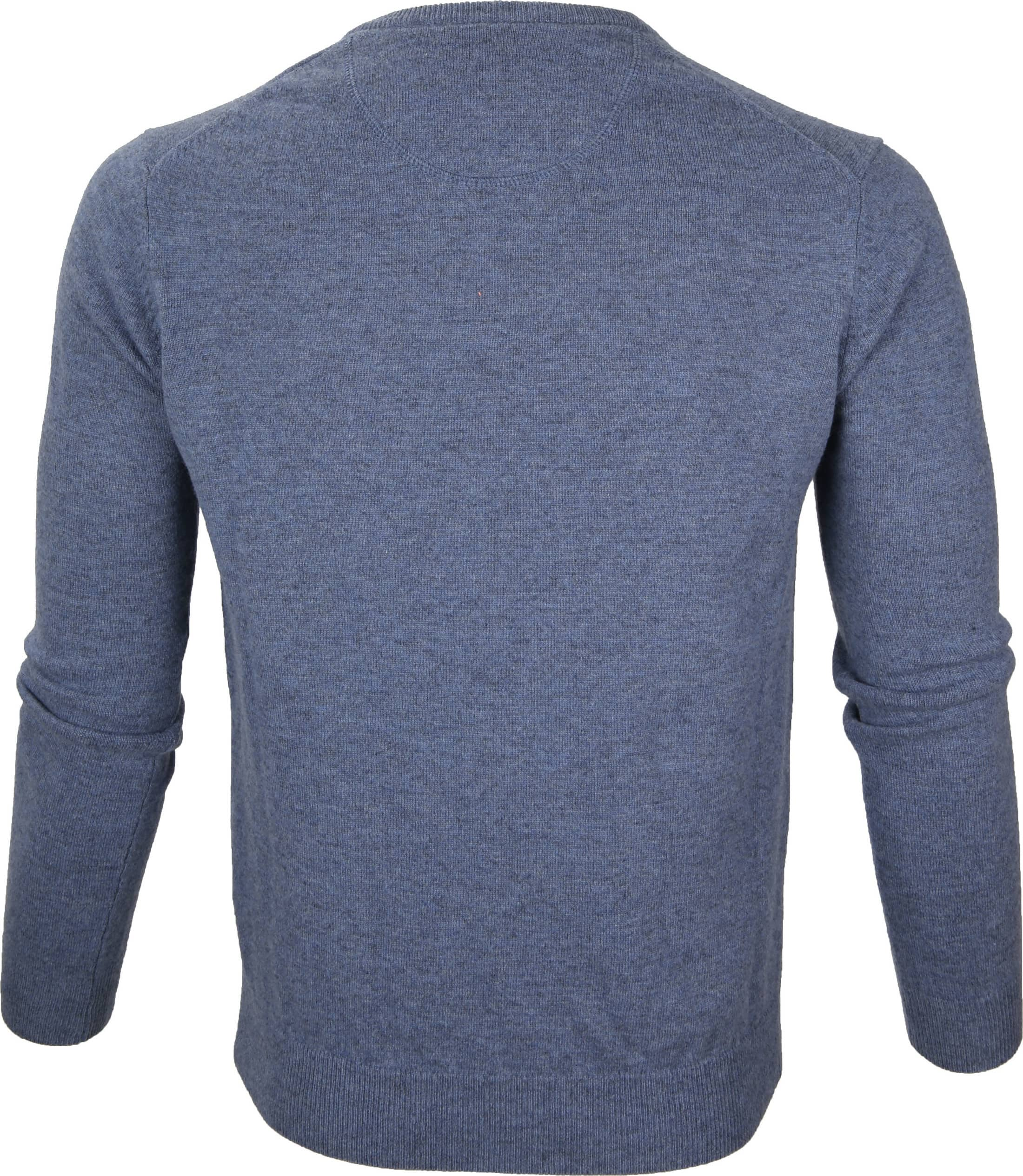 Suitable Pullover Lammwolle V-Ausschnitt Hellblau foto 2