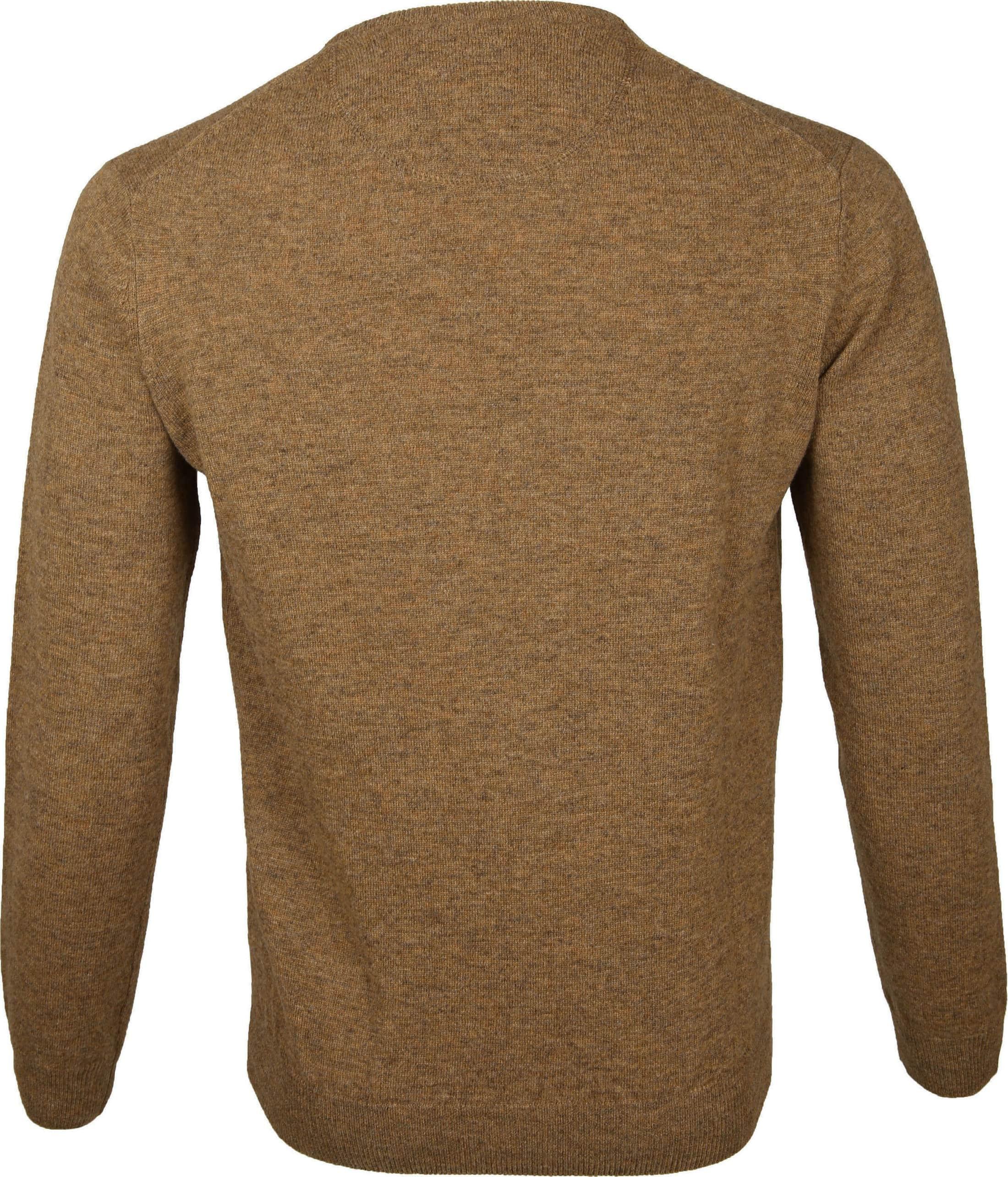 Suitable Pullover Lammwolle V-Ausschnitt Kamel foto 2