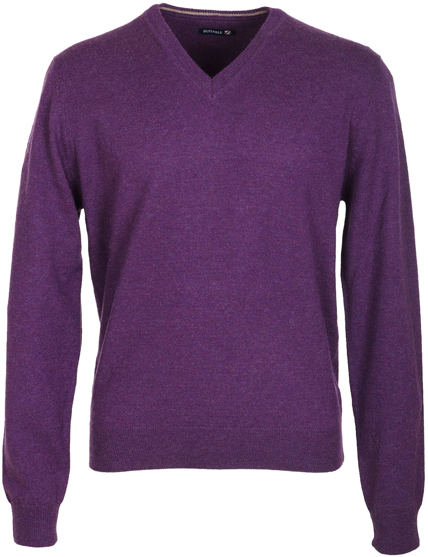 Suitable Pullover Lamswol Paars