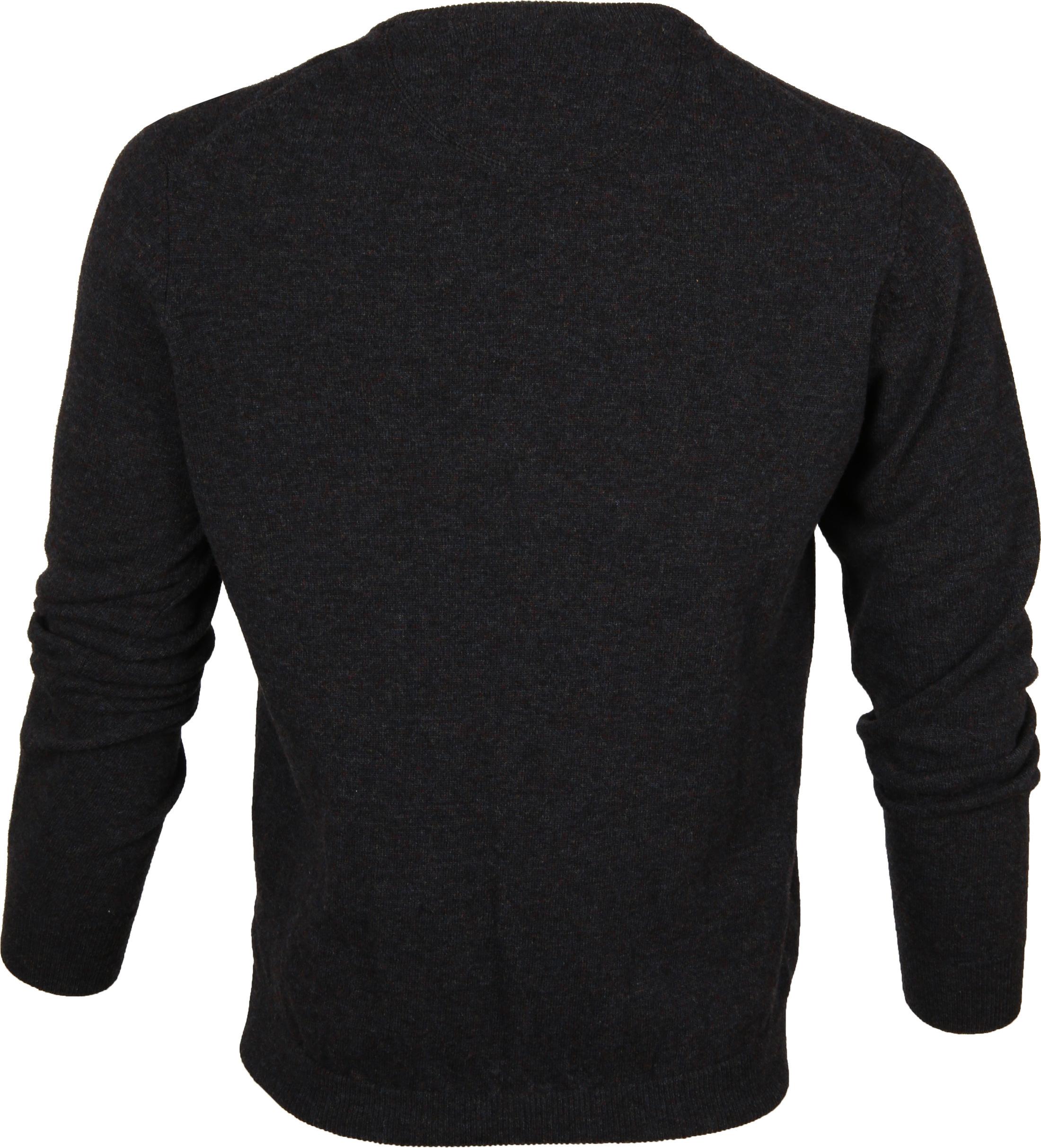 Suitable Pullover Lamswol V-Hals Antraciet foto 2