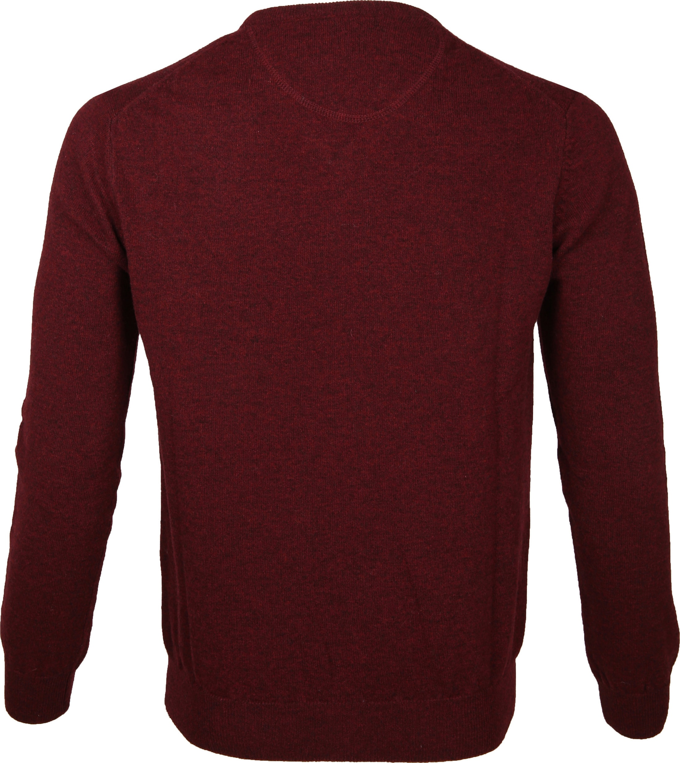 Suitable Pullover Lamswol V-Hals Bordeaux foto 2