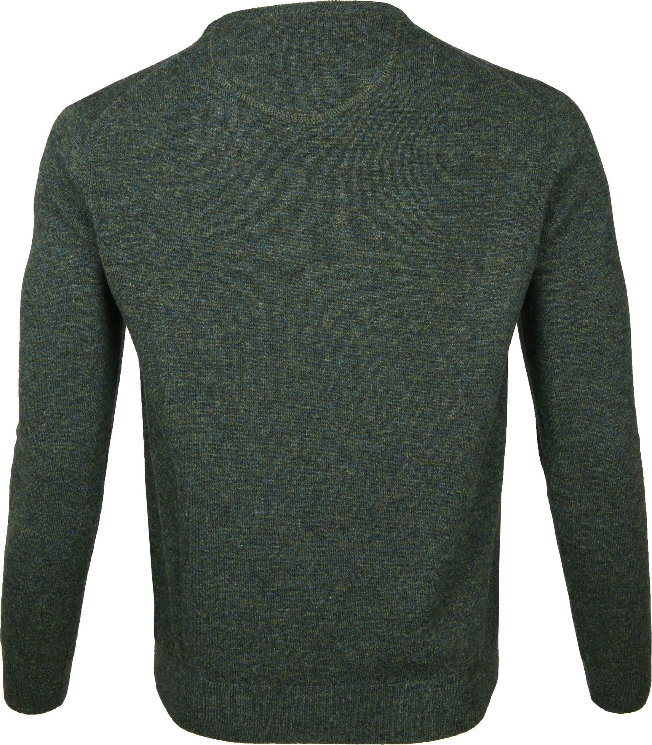Suitable Pullover Lamswol V-Hals Donkergroen foto 2