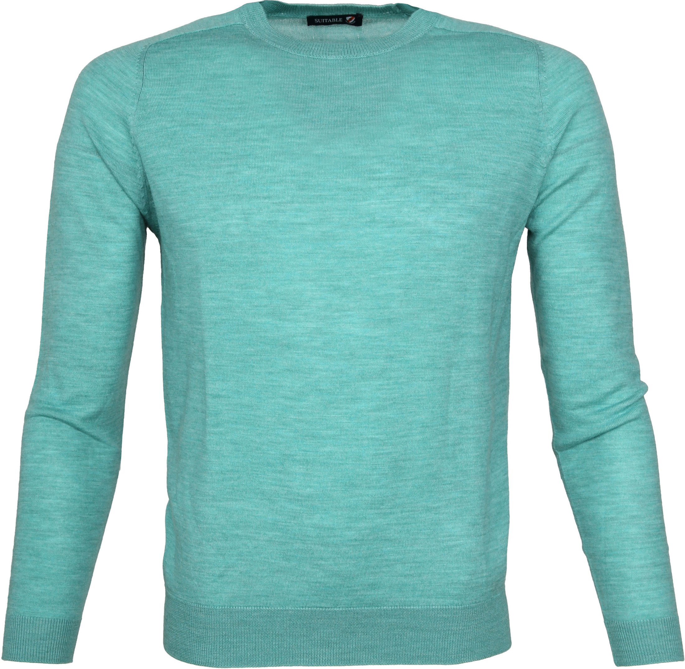 Suitable Pullover Merino Groen foto 0