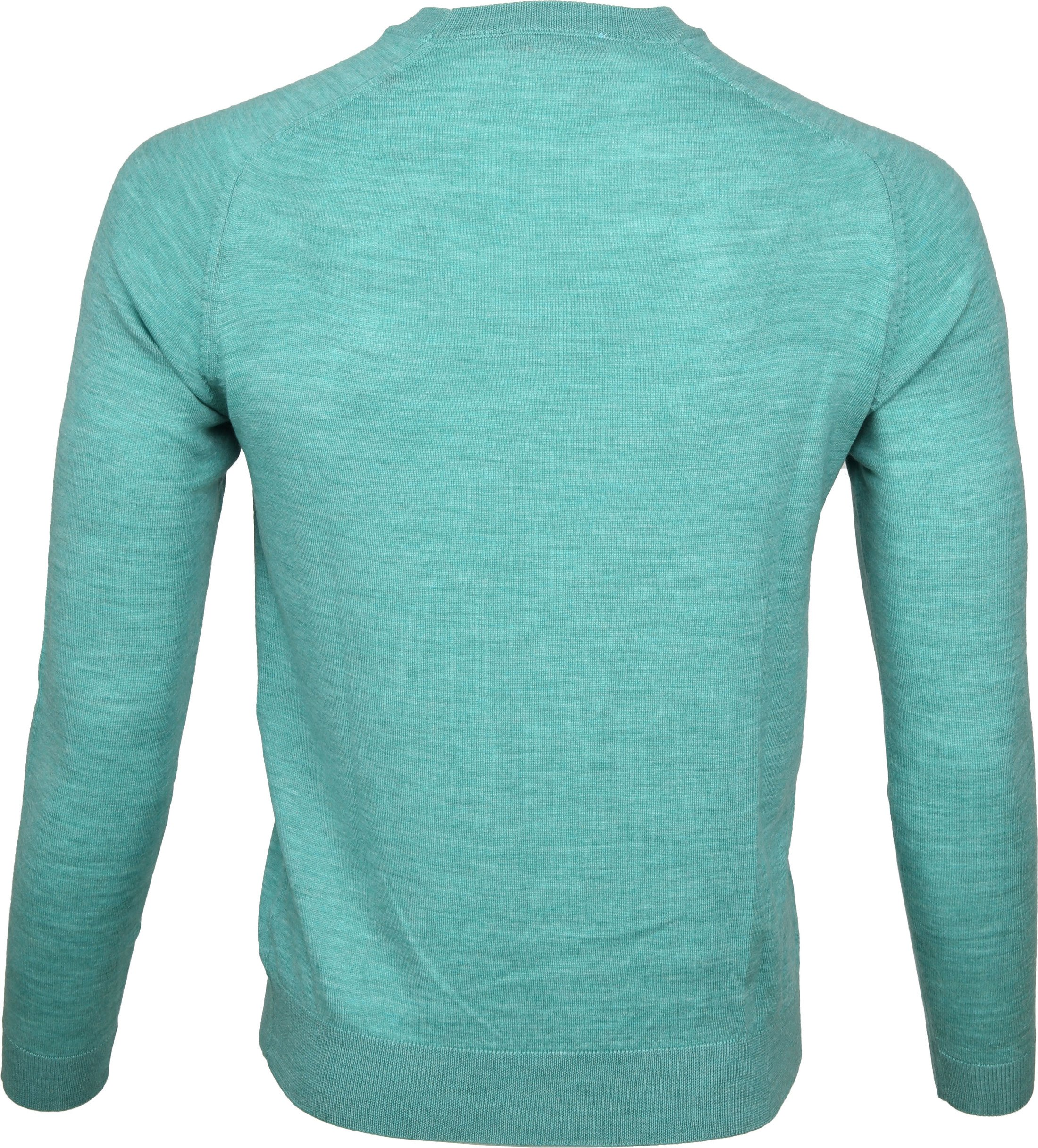 Suitable Pullover Merino Groen foto 2