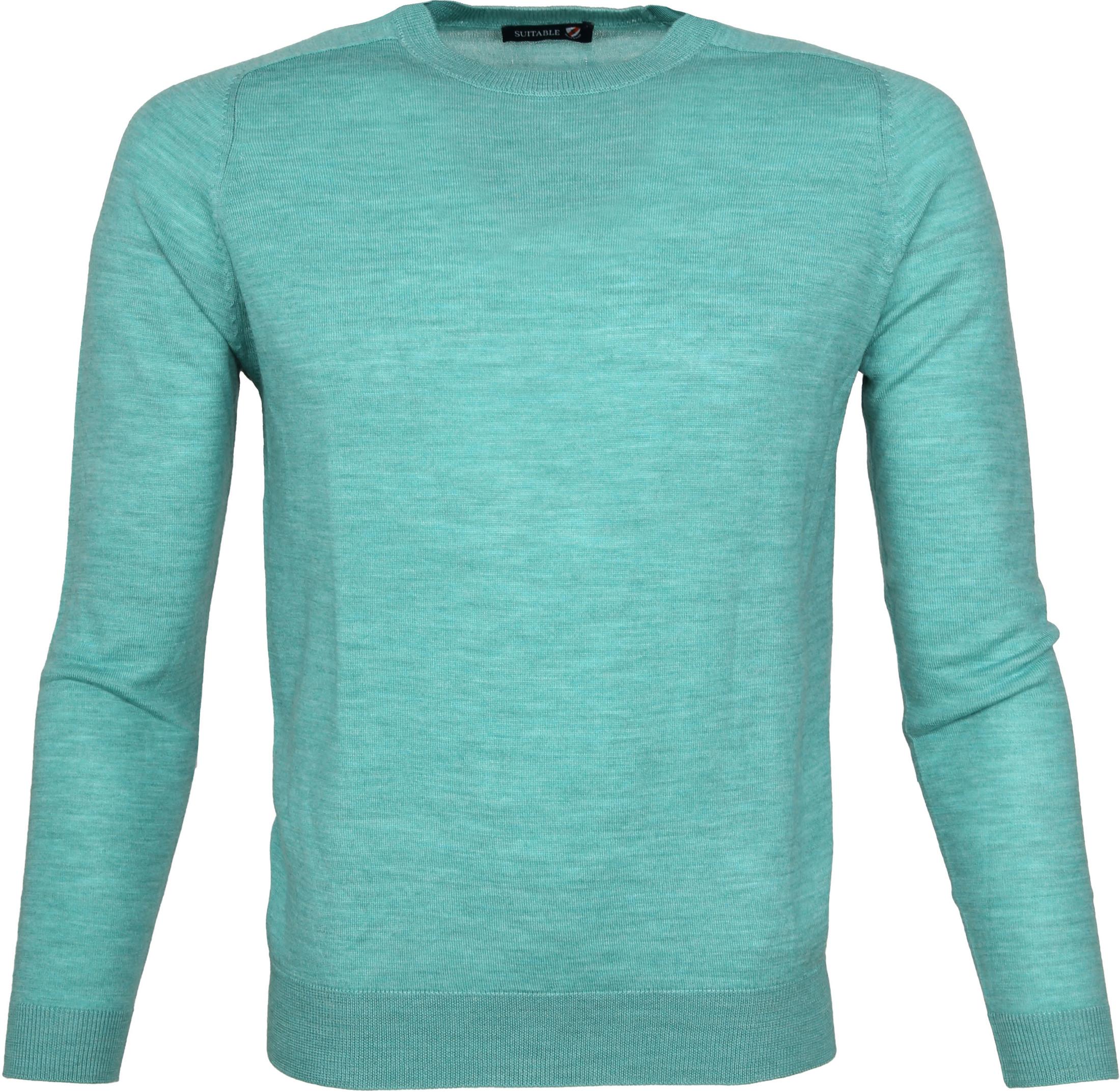 Suitable Pullover Merino Grün foto 0