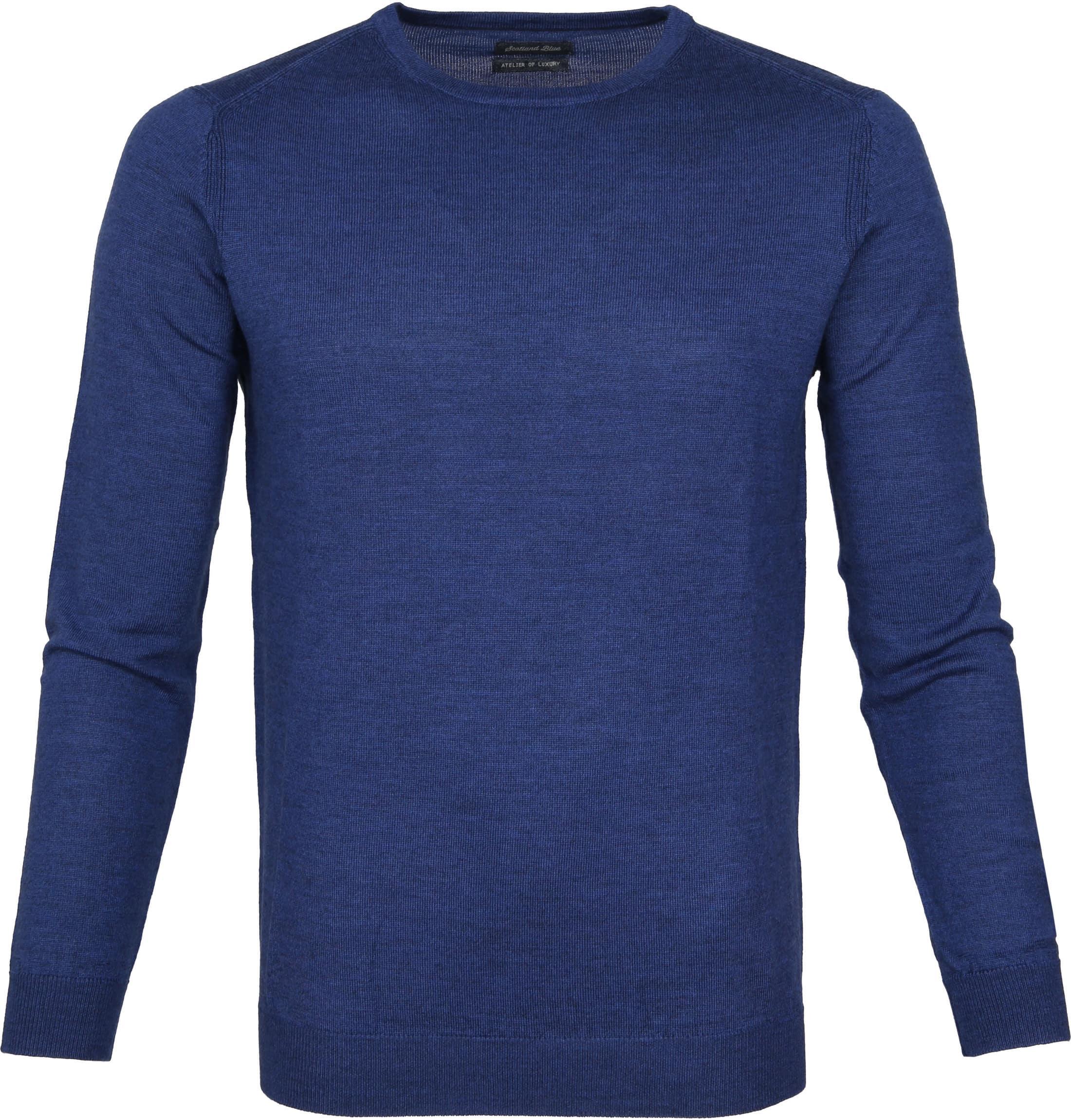 Suitable Pullover Merino Rick Blauw foto 0