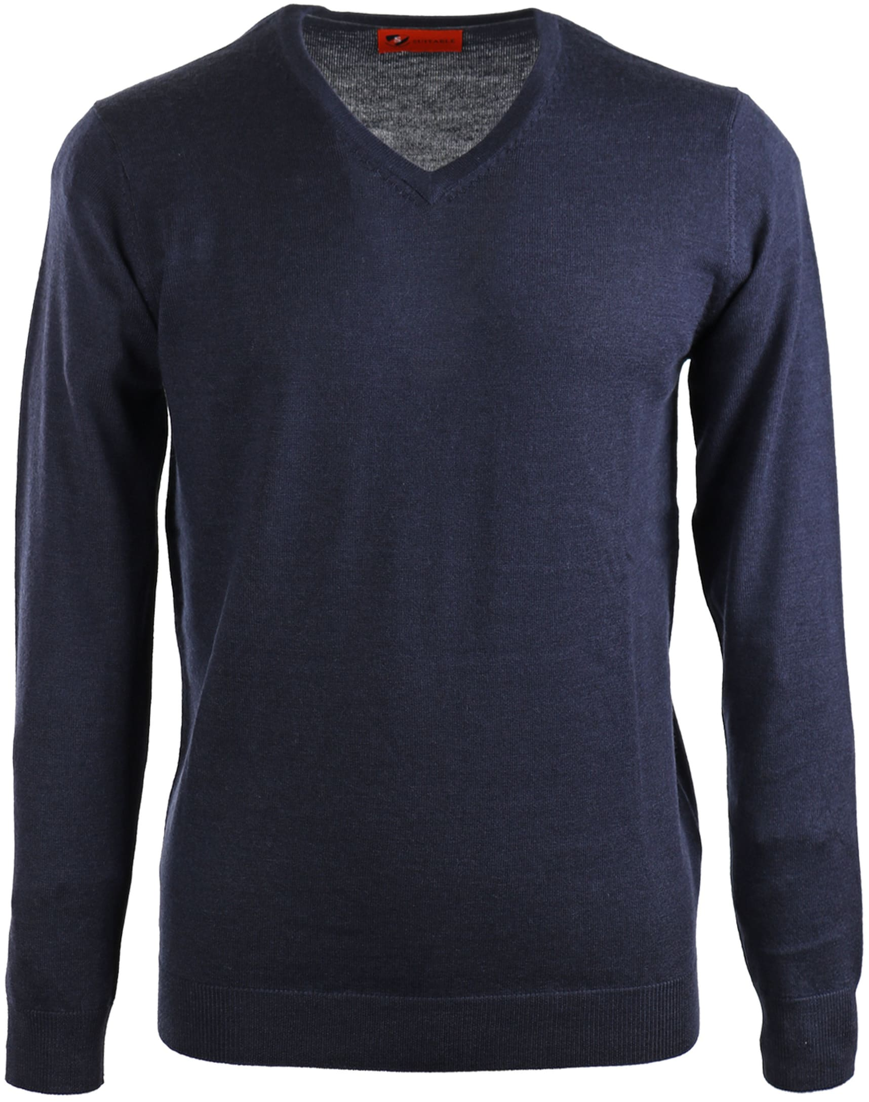 Suitable Pullover Merino Wol Donkerblauw foto 0