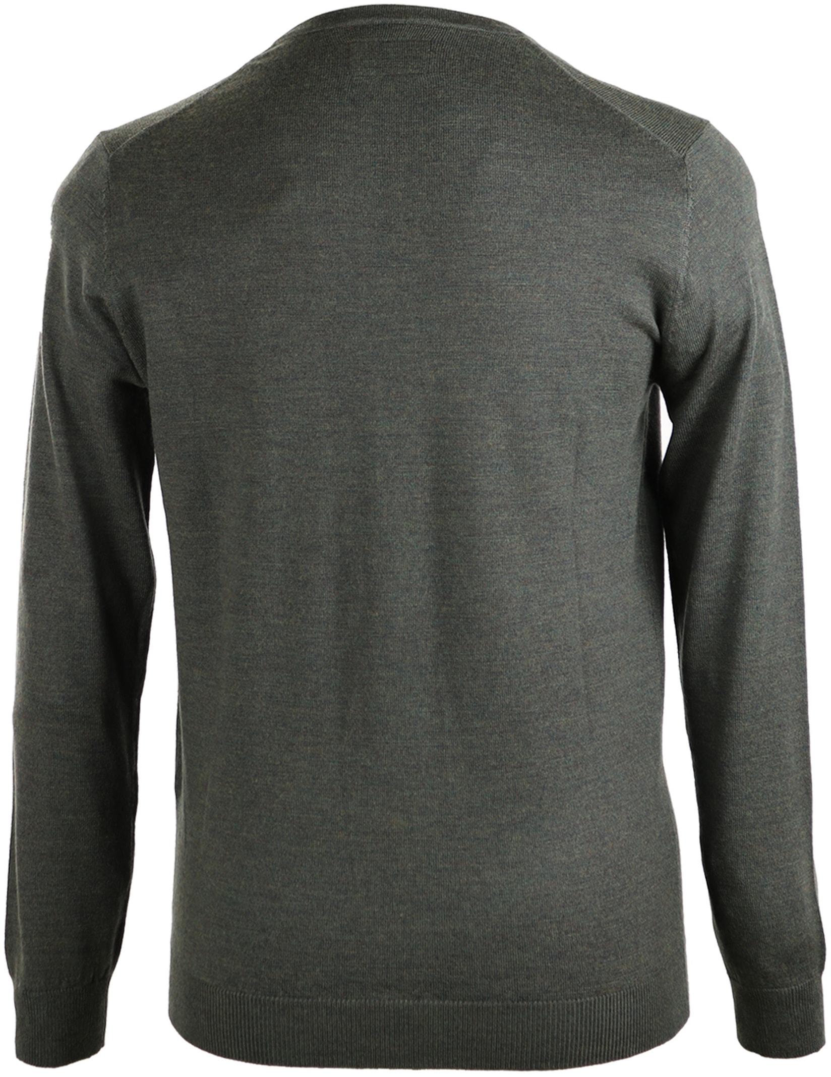 Suitable Pullover Merino Wol Donkergroen foto 1