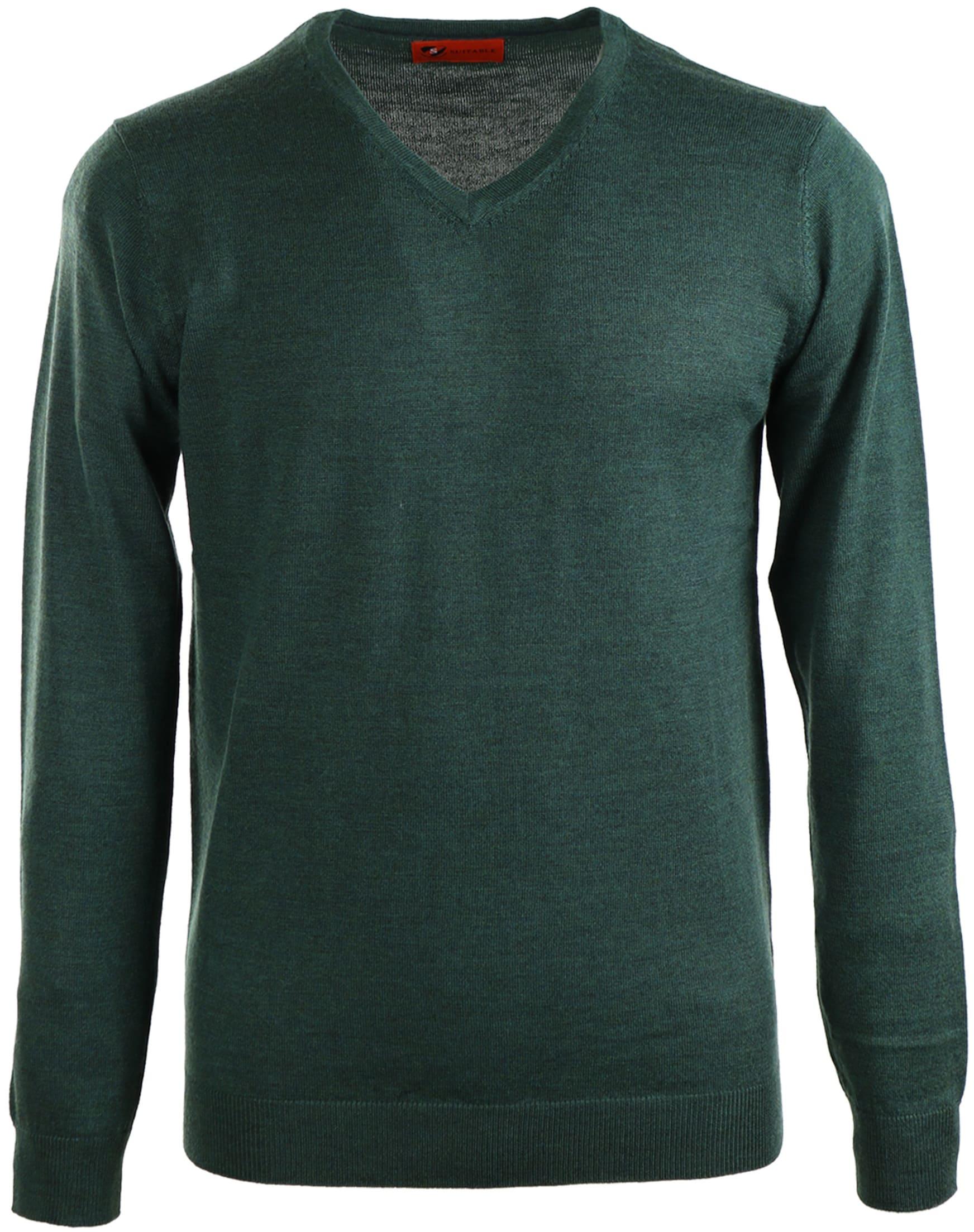 Suitable Pullover Merino Wol Groen foto 0