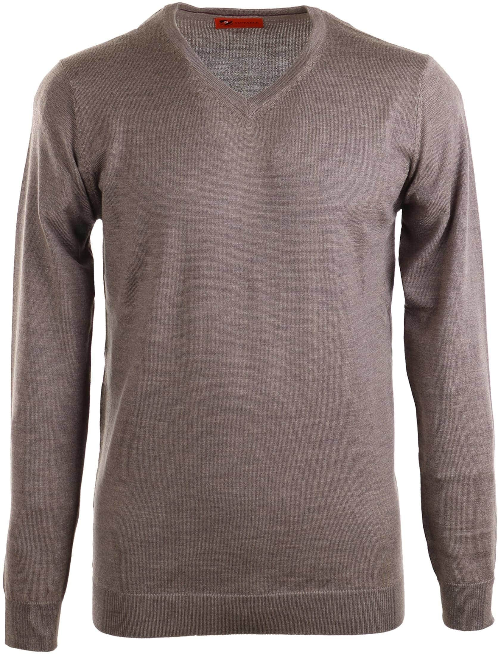 Suitable Pullover Merino Wool Brown foto 0