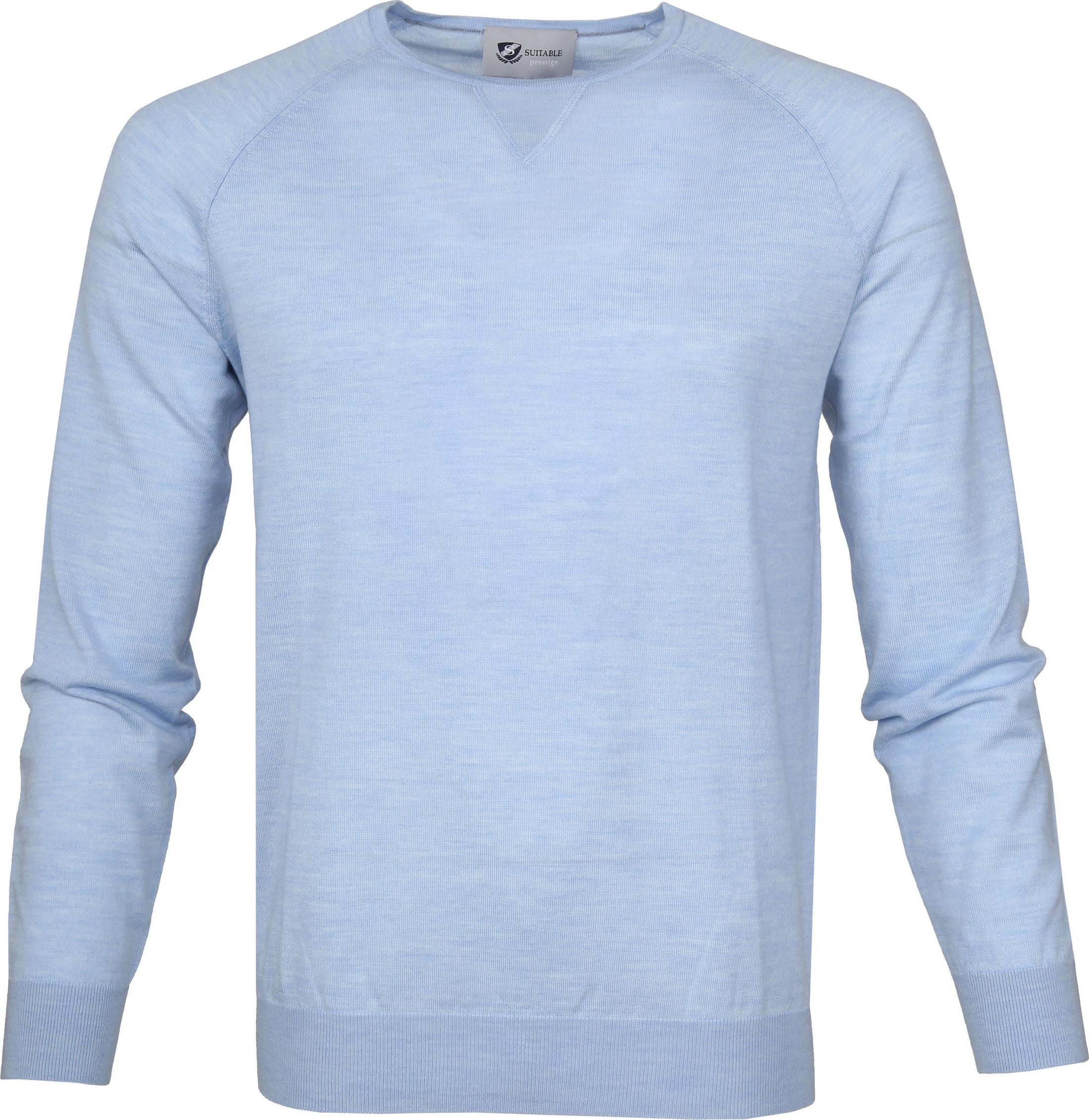 Suitable Pullover Prestige Merino Lichtblauw foto 0
