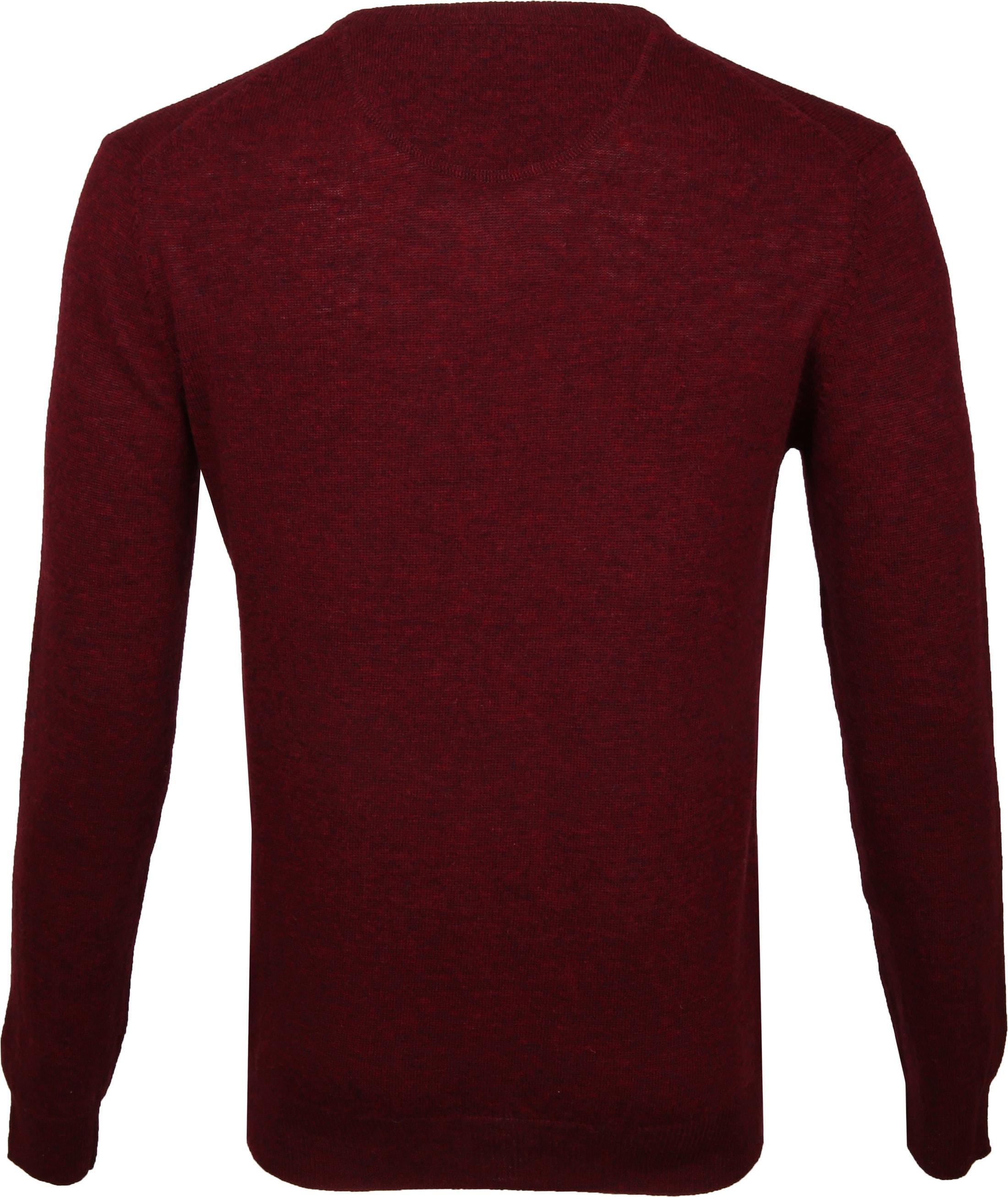 Suitable Pullover V-Hals Lamswol Bordeaux foto 4