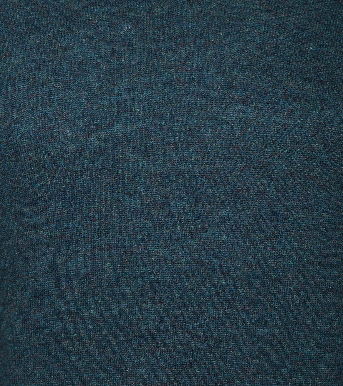 Suitable Pullover V-Hals Lamswol Groen foto 3