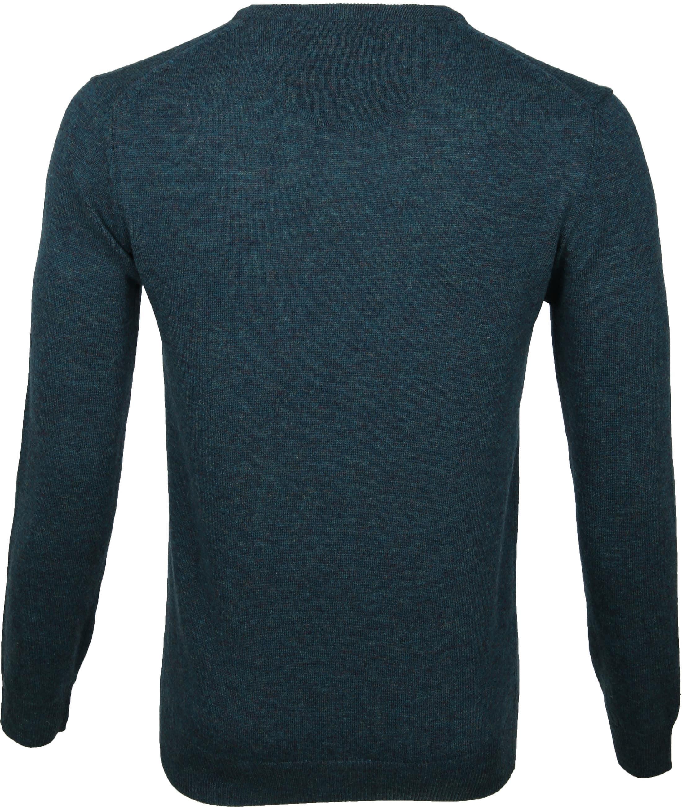 Suitable Pullover V-Hals Lamswol Groen foto 4