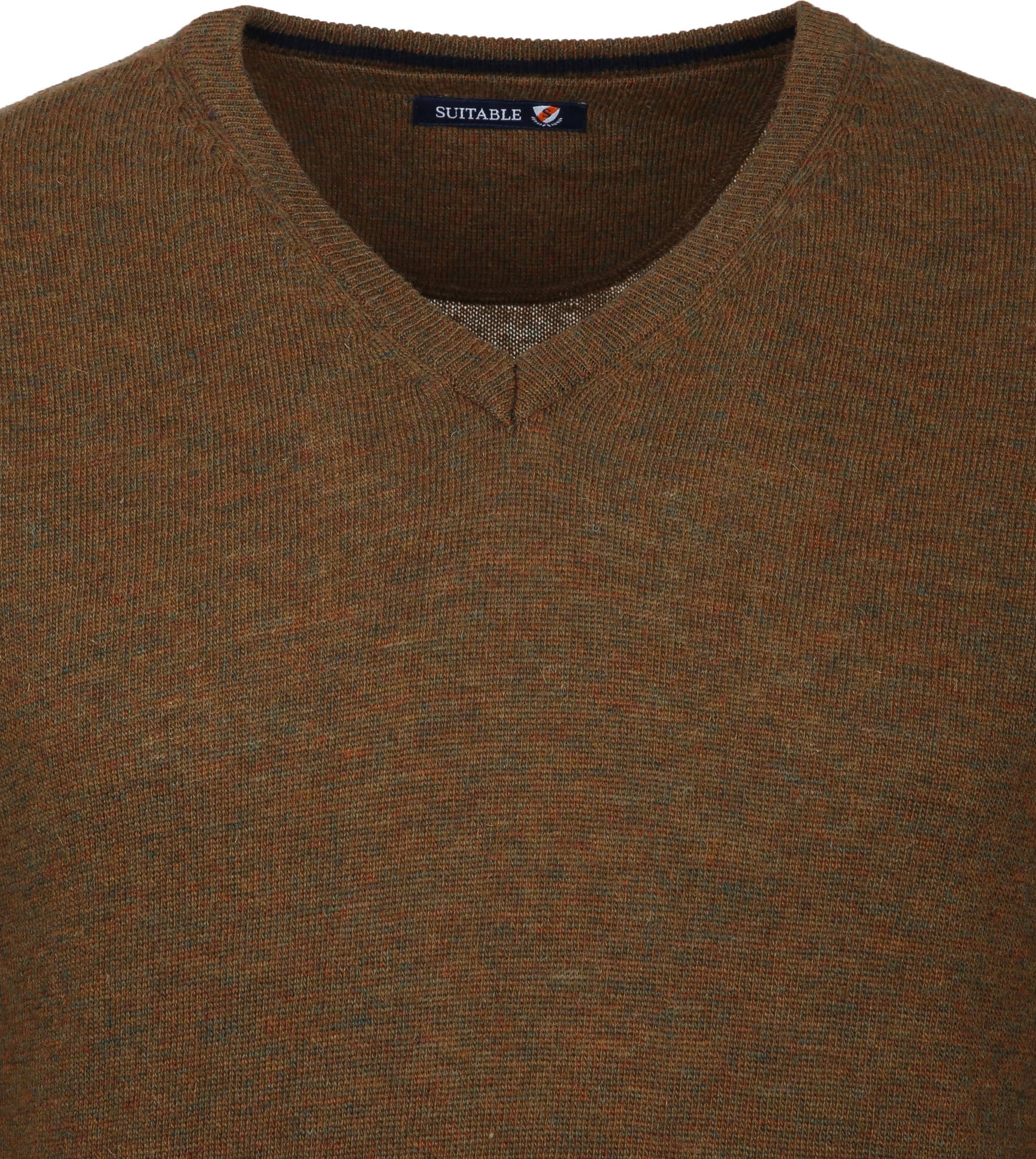 Suitable Pullover V-Neck Lambswool Brown foto 2