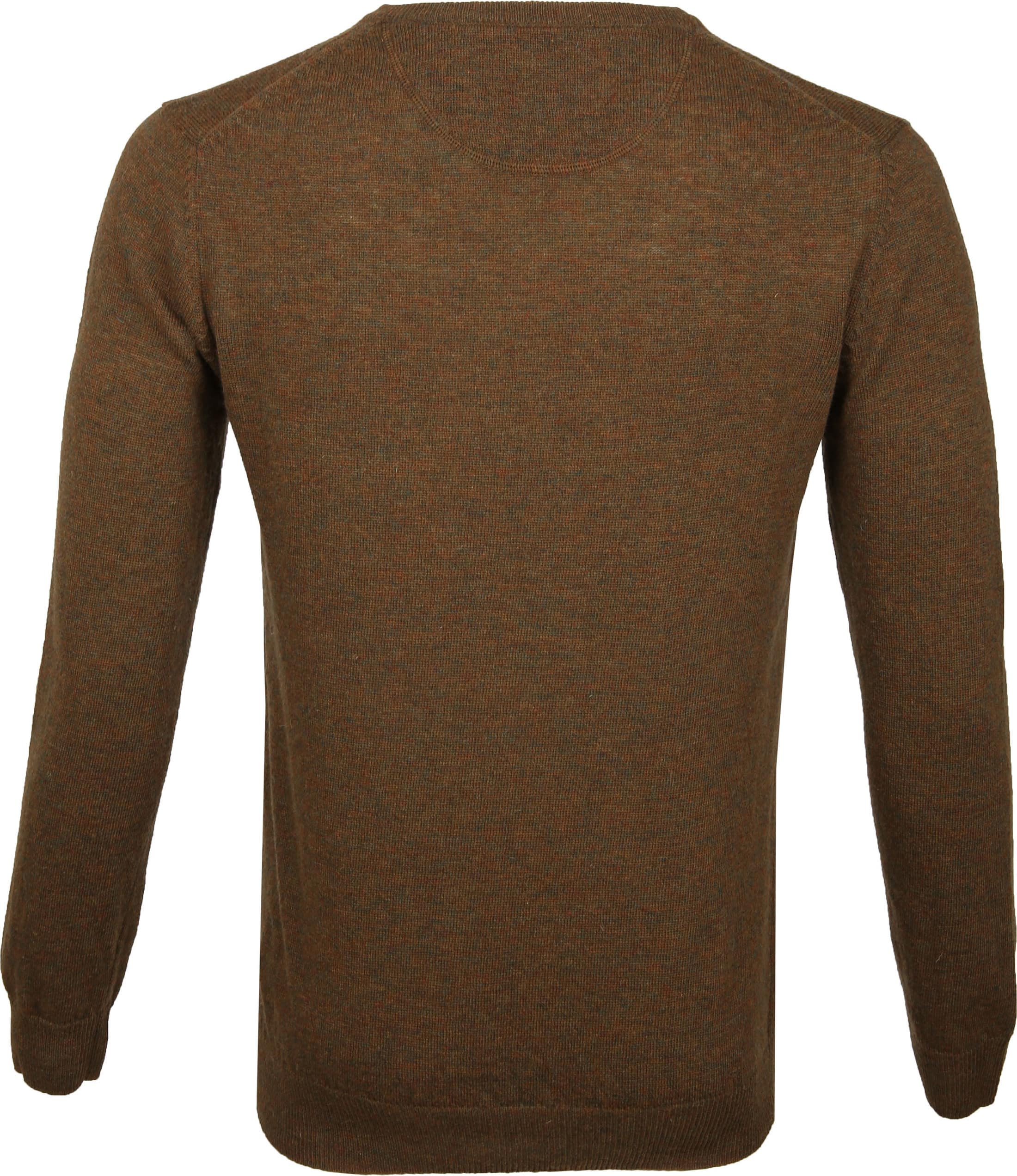 Suitable Pullover V-Neck Lambswool Brown foto 4