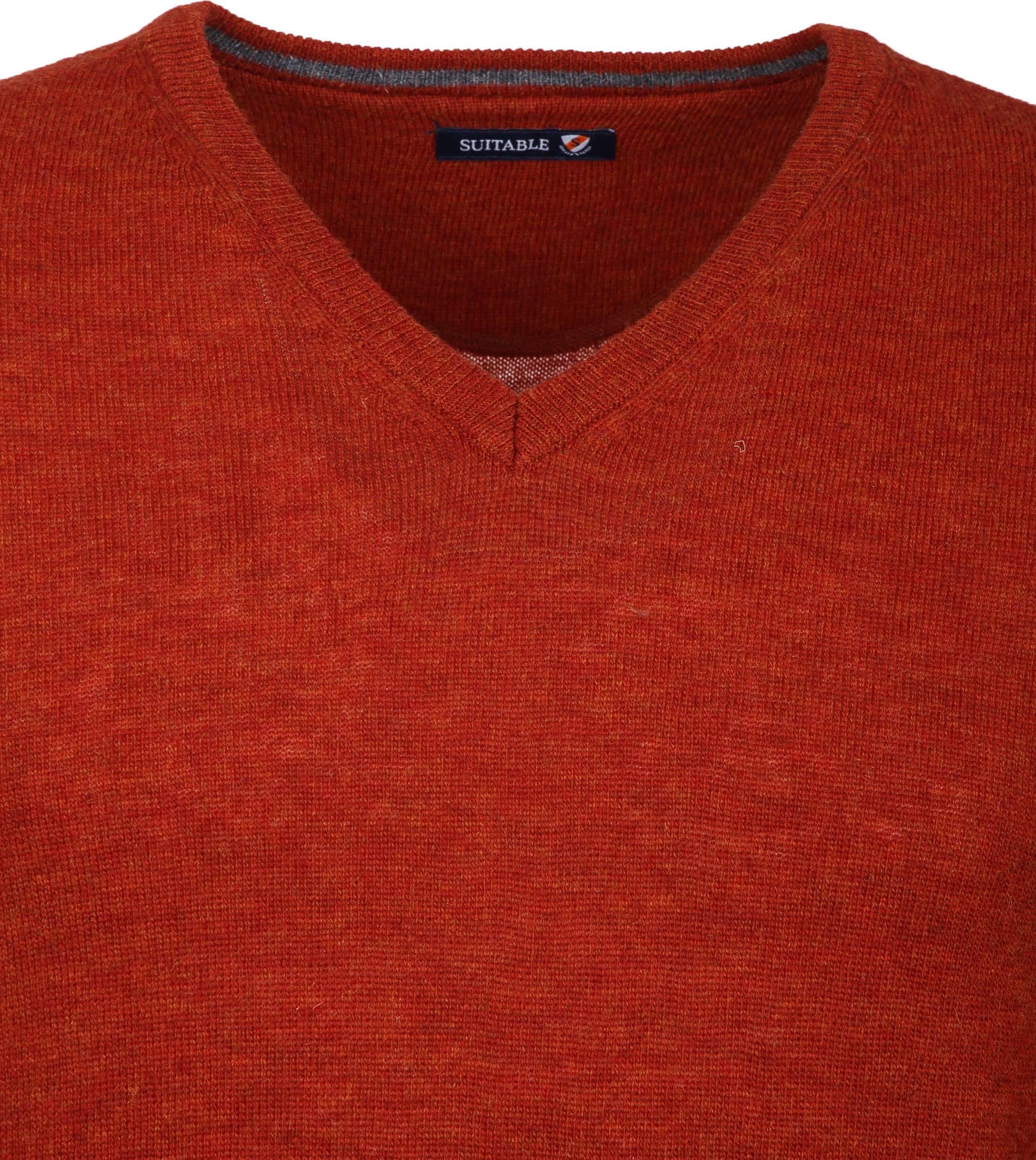 Suitable Pullover V-Neck Lambswool Orange foto 2