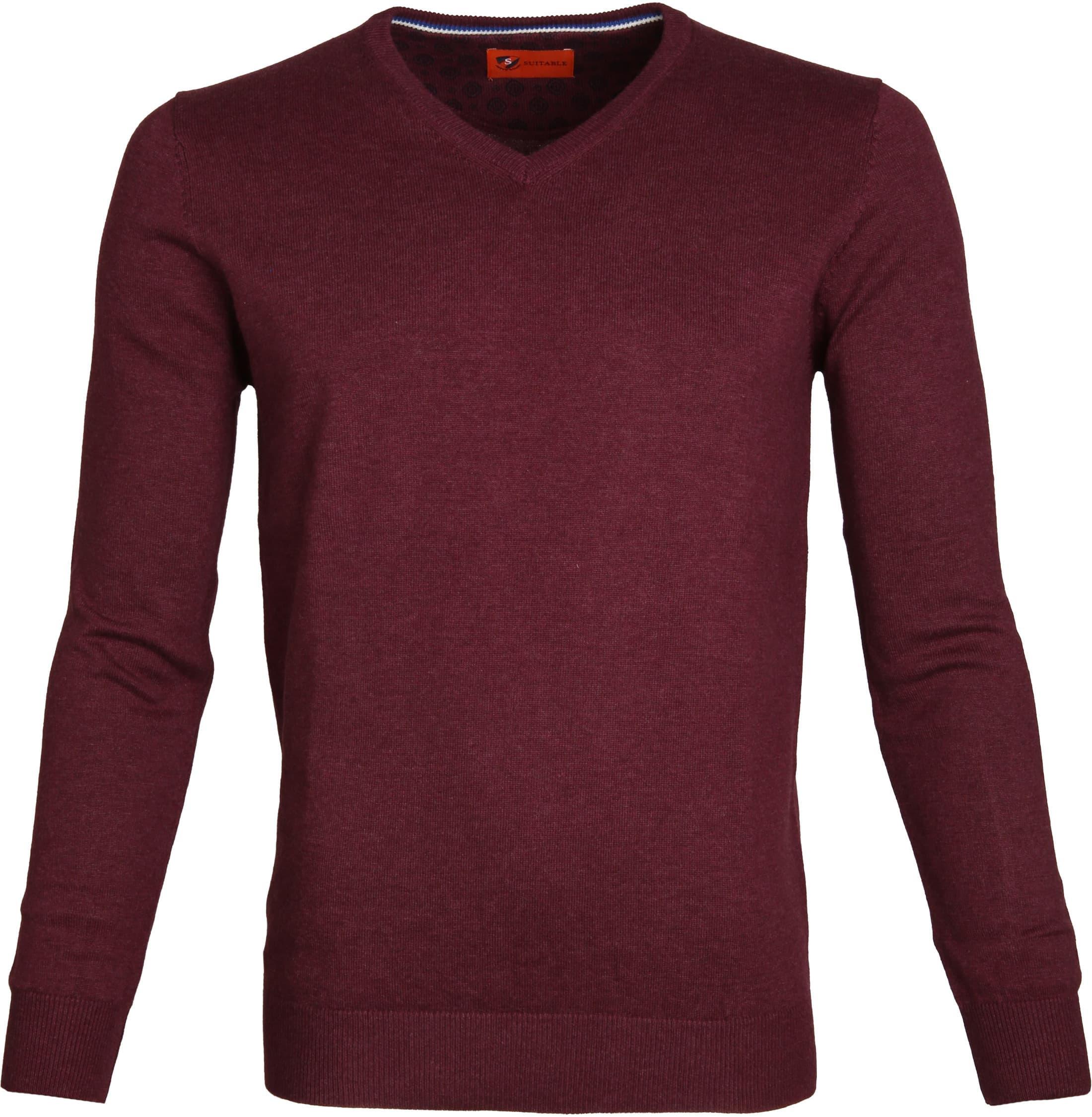 Suitable Pullover Vince Bordeaux foto 0
