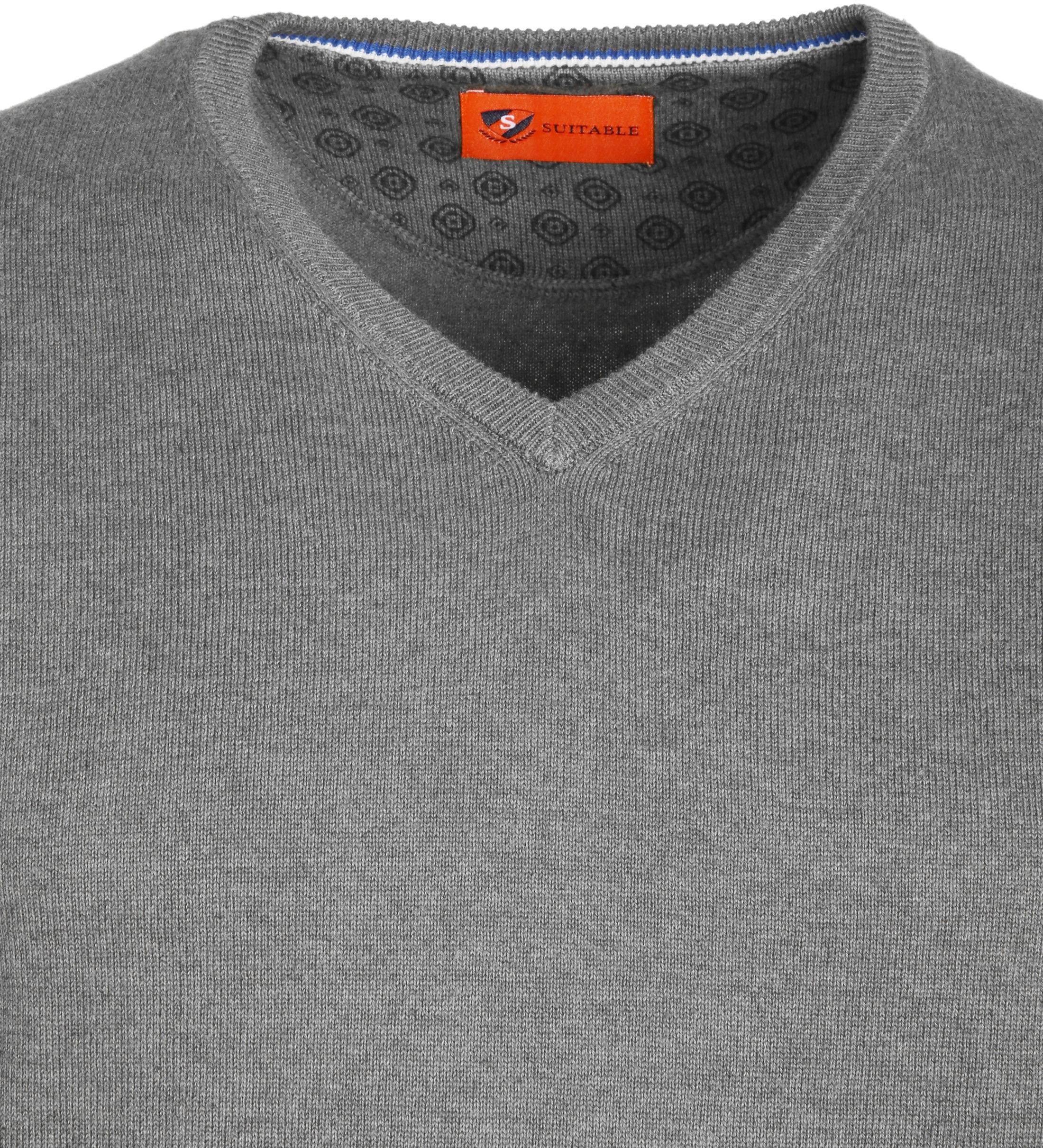 Suitable Pullover Vince Grijs foto 1