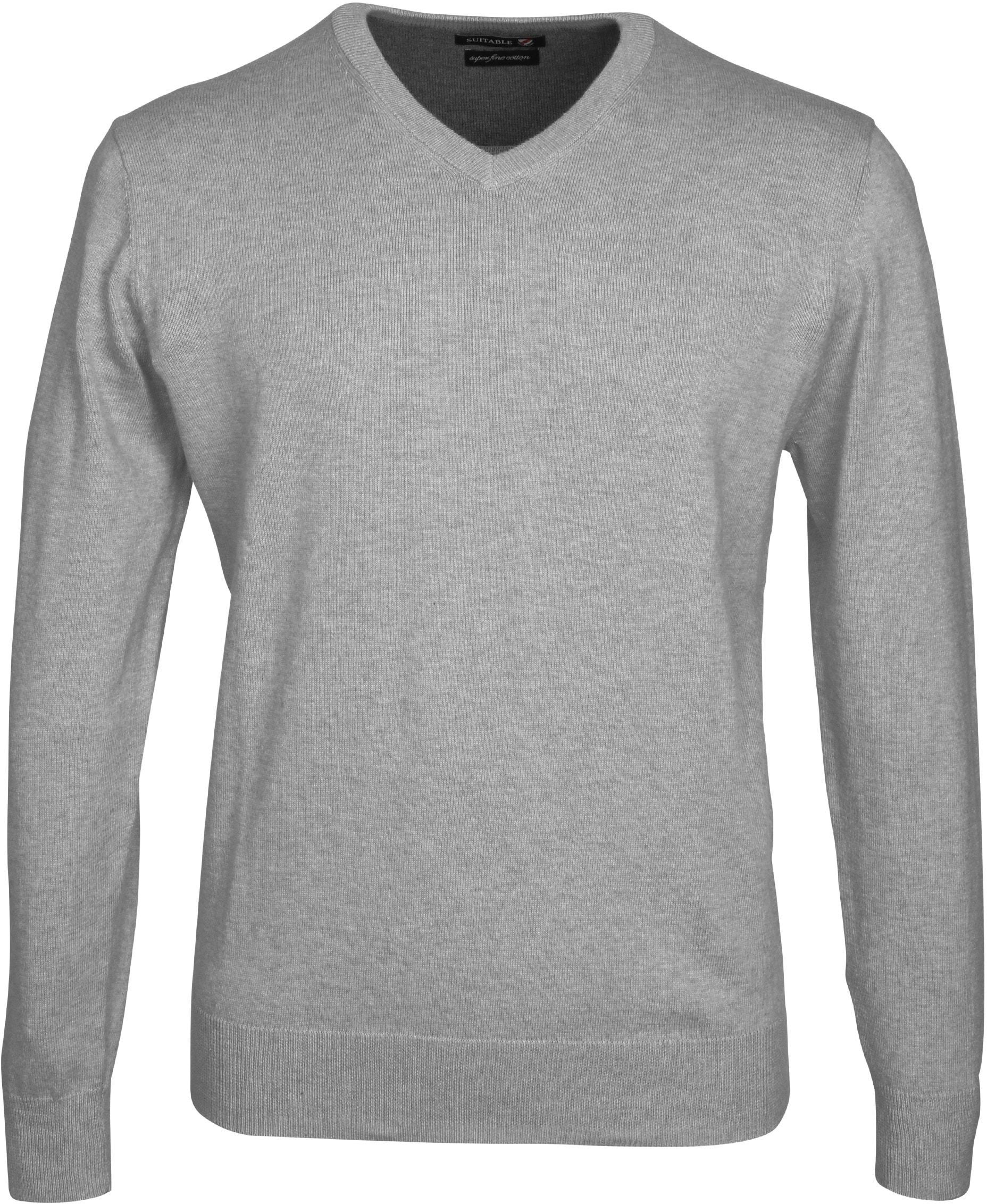 Suitable Pullover Vini Grijs foto 0