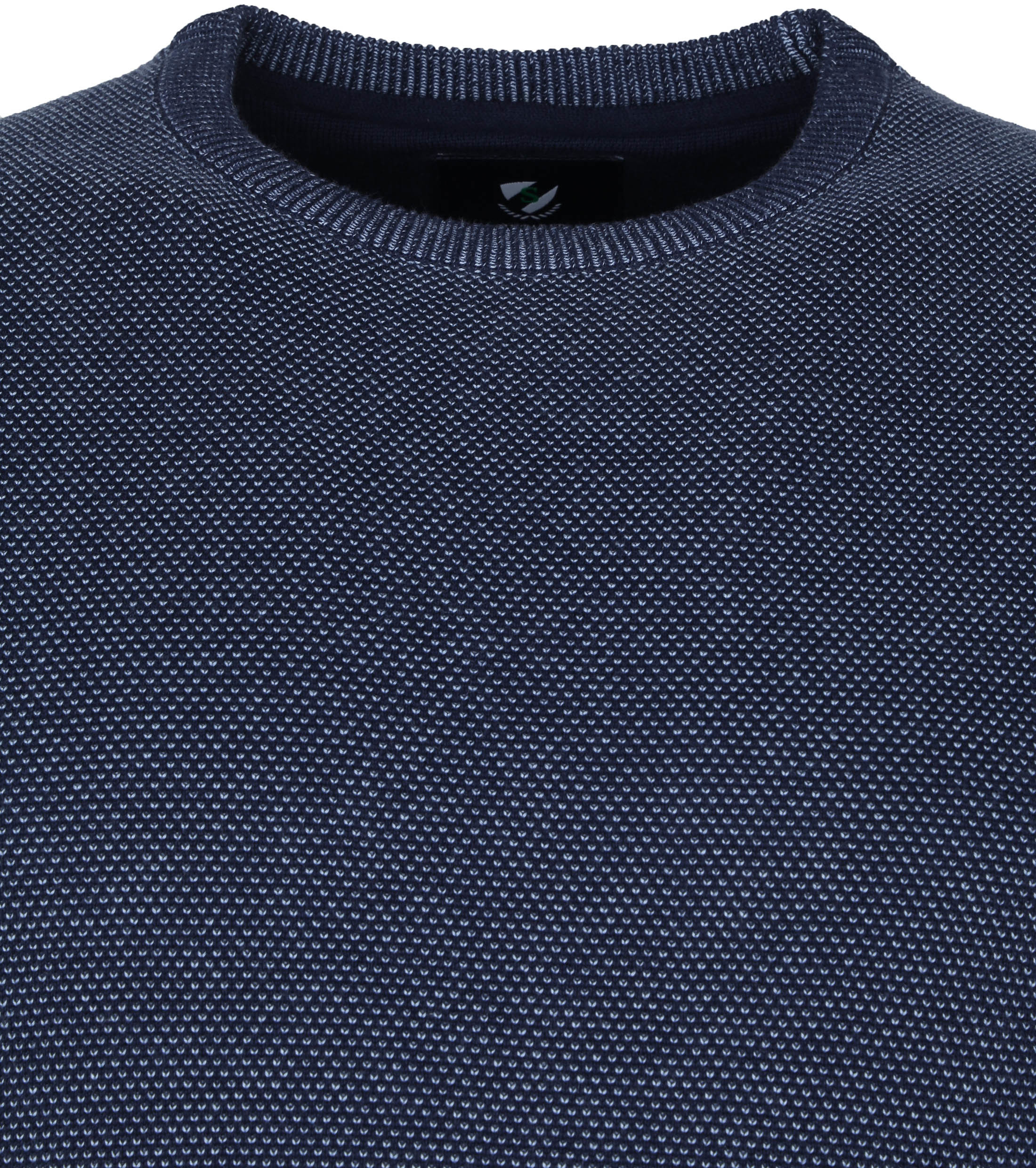 Suitable Respect Pullover Jean Donkerblauw