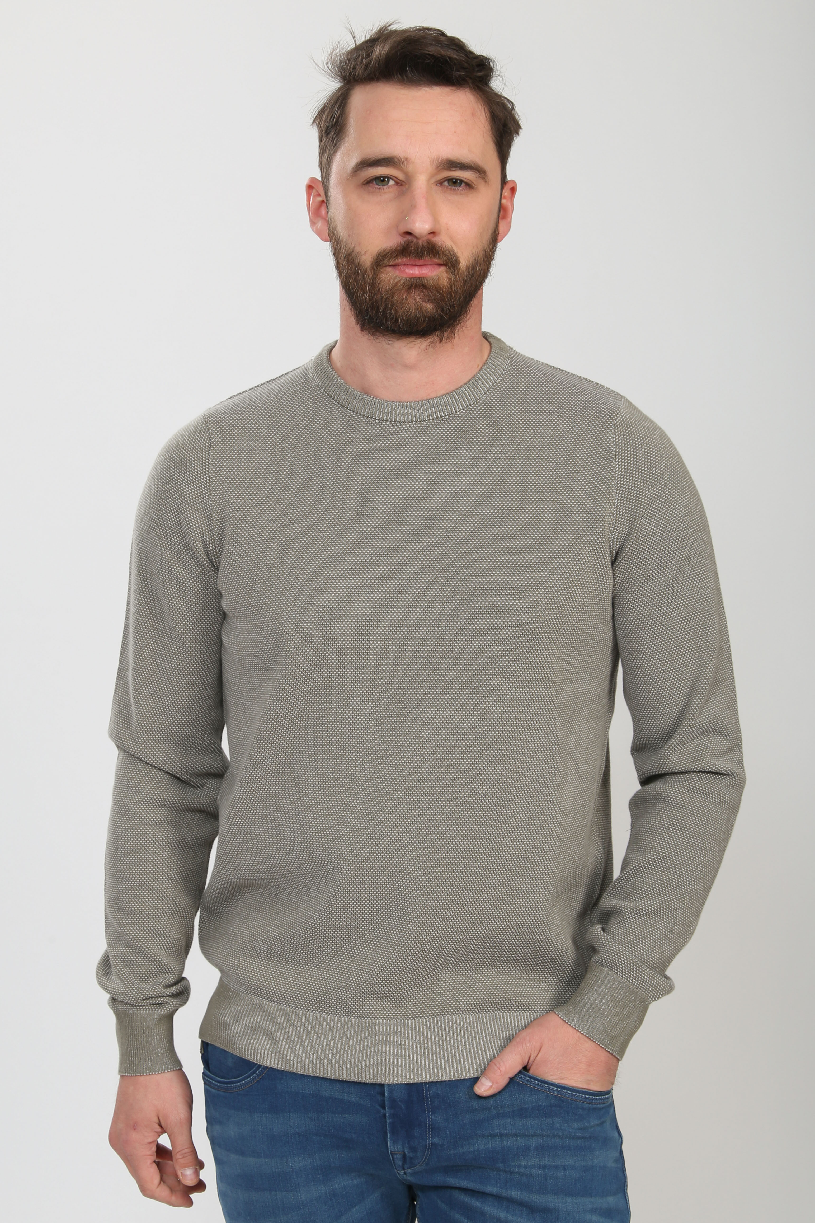 Suitable Respect Pullover Jean Taupe