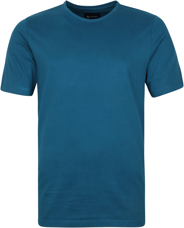 Suitable Respect T-shirt Jim Indigo Blauw