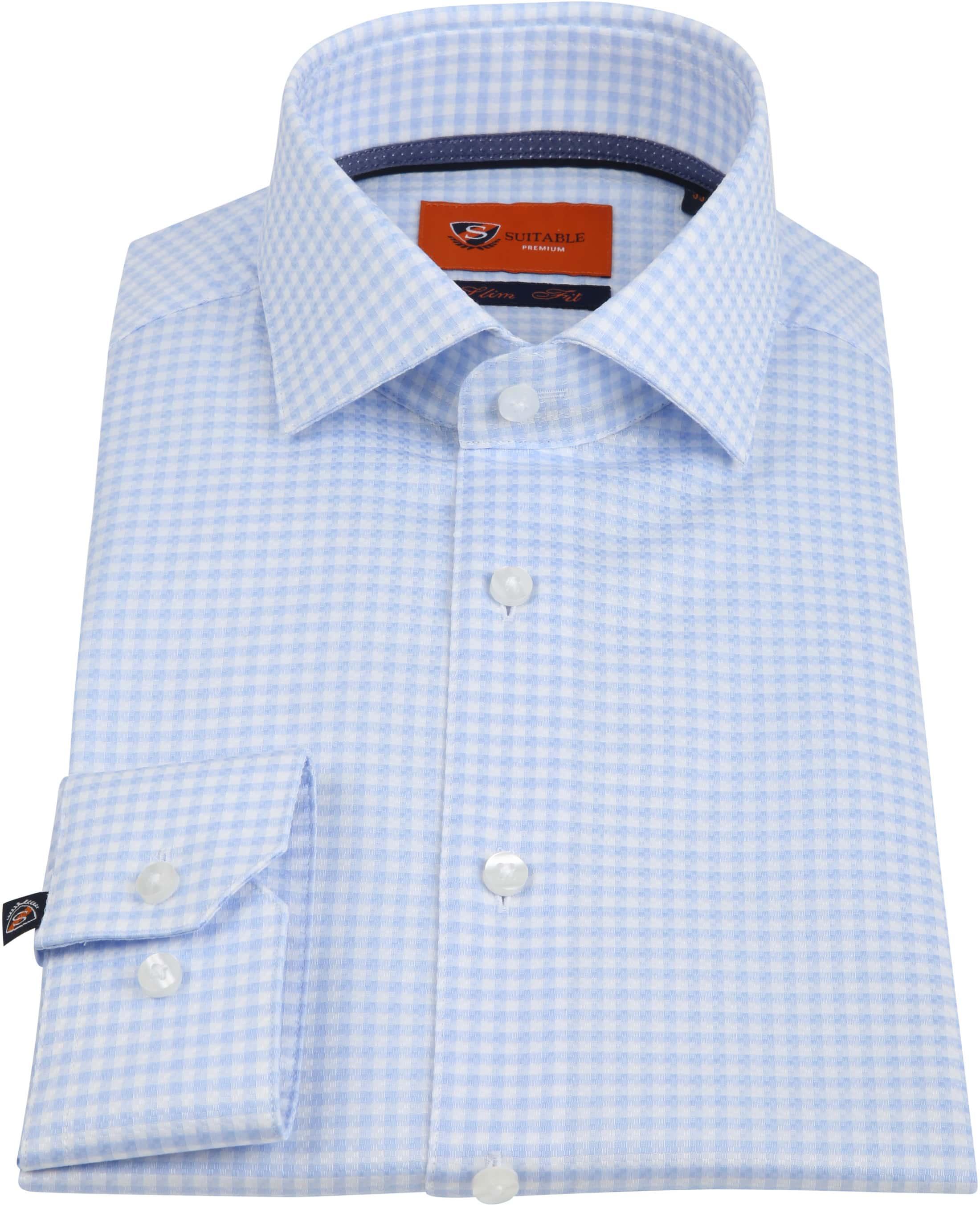 Suitable Ruiten Blauw Overhemd foto 2