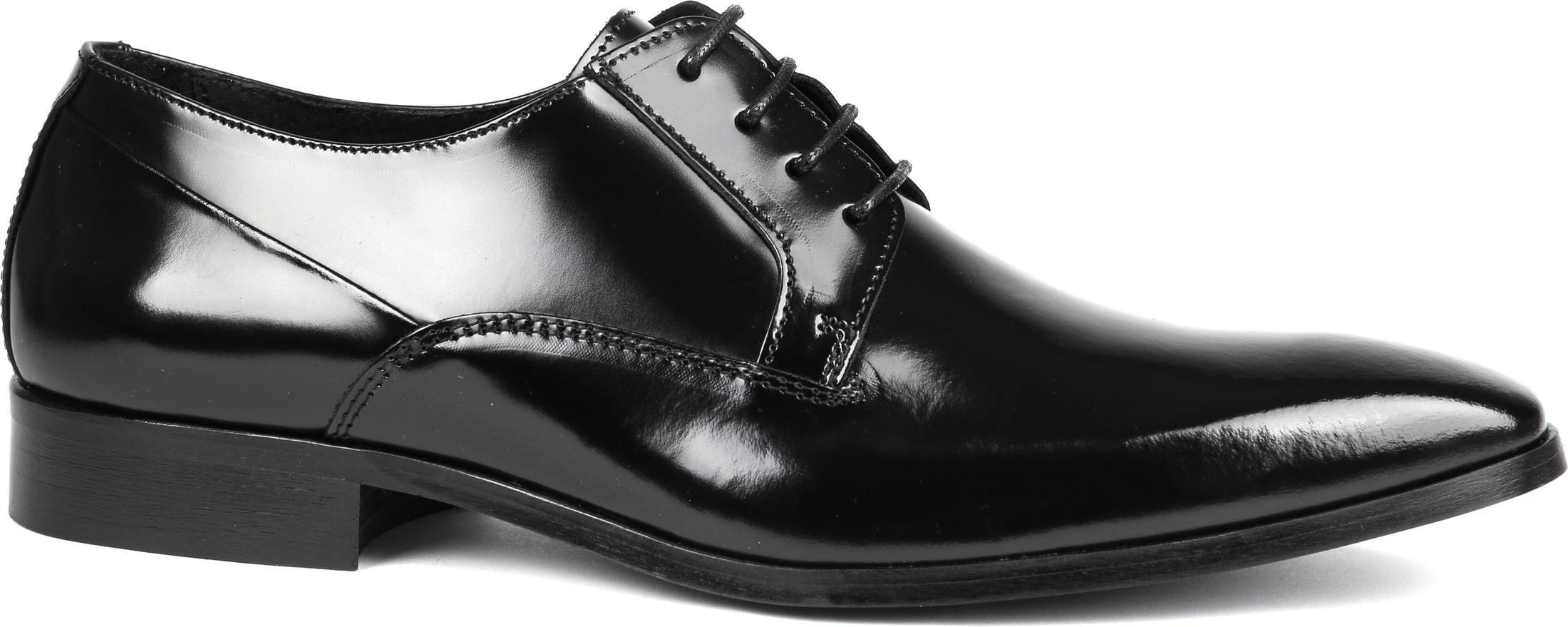Suitable Schwarze Schnürschuhe Lackleder foto 0