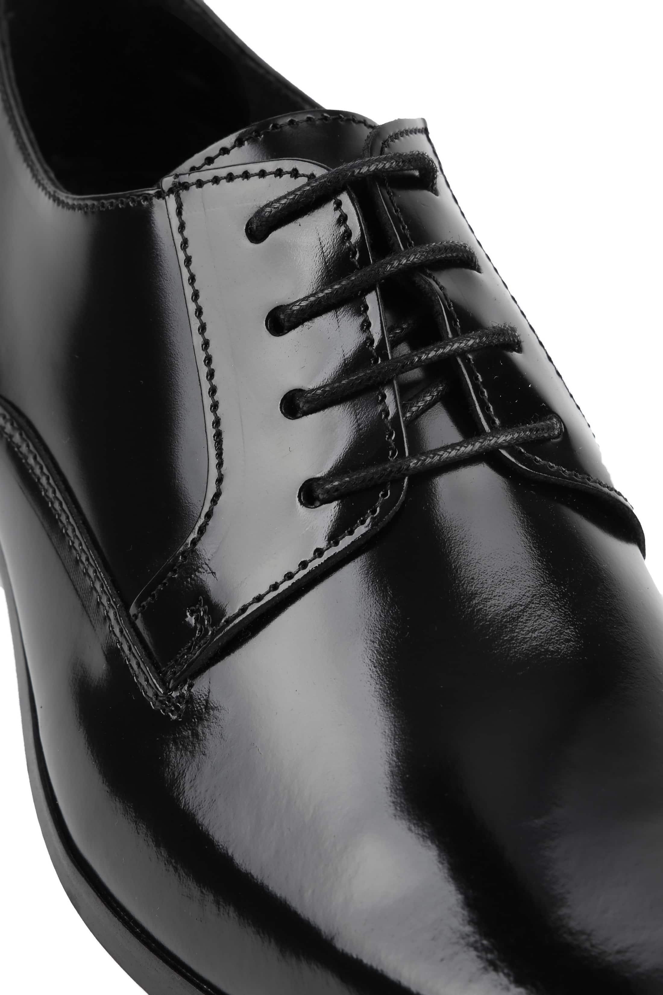 Suitable Schwarze Schnürschuhe Lackleder foto 1