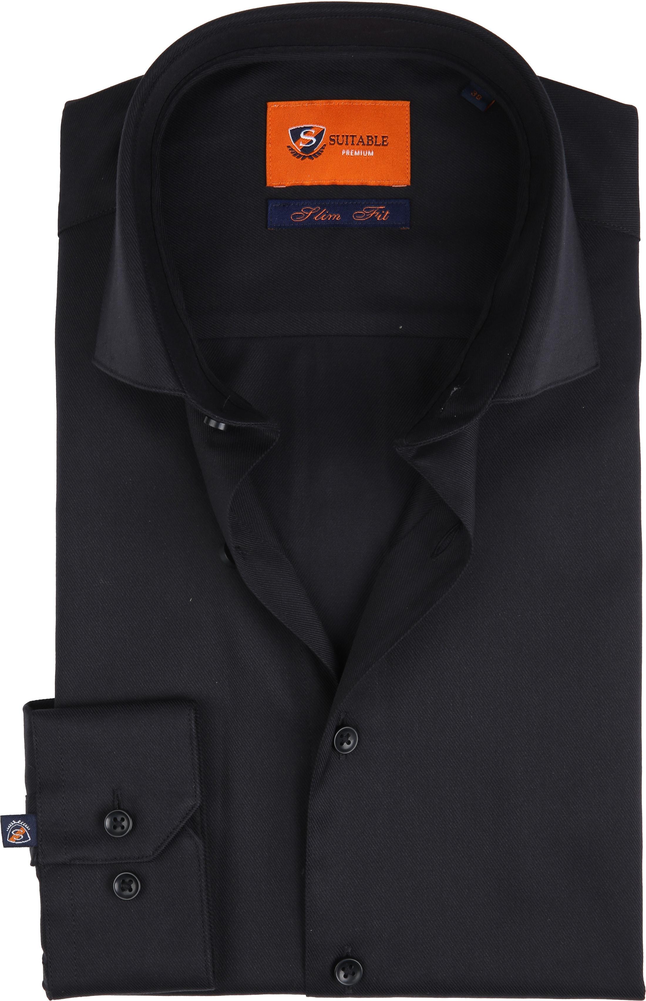 Suitable Shirt Black Pepita foto 0
