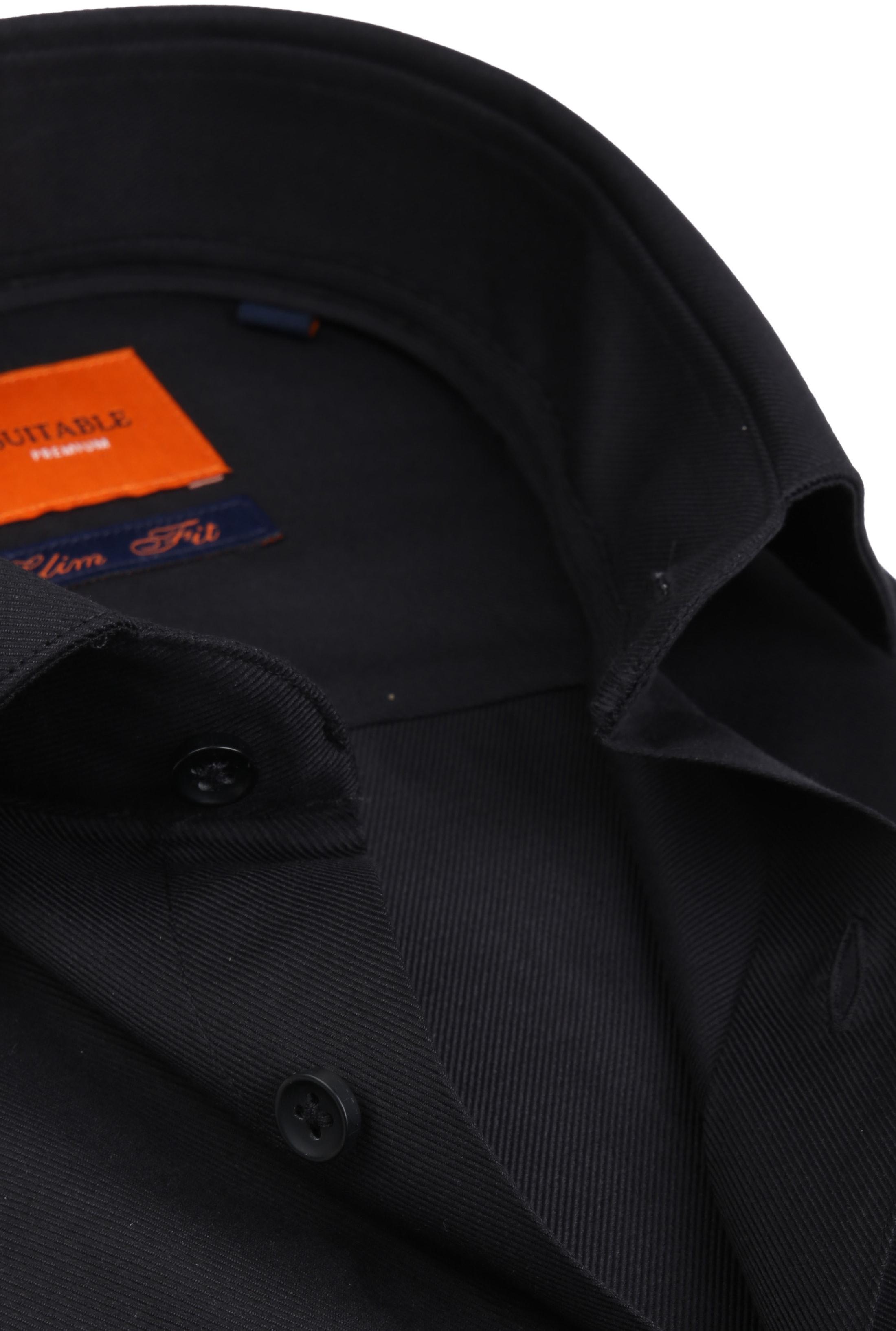 Suitable Shirt Black Pepita foto 1
