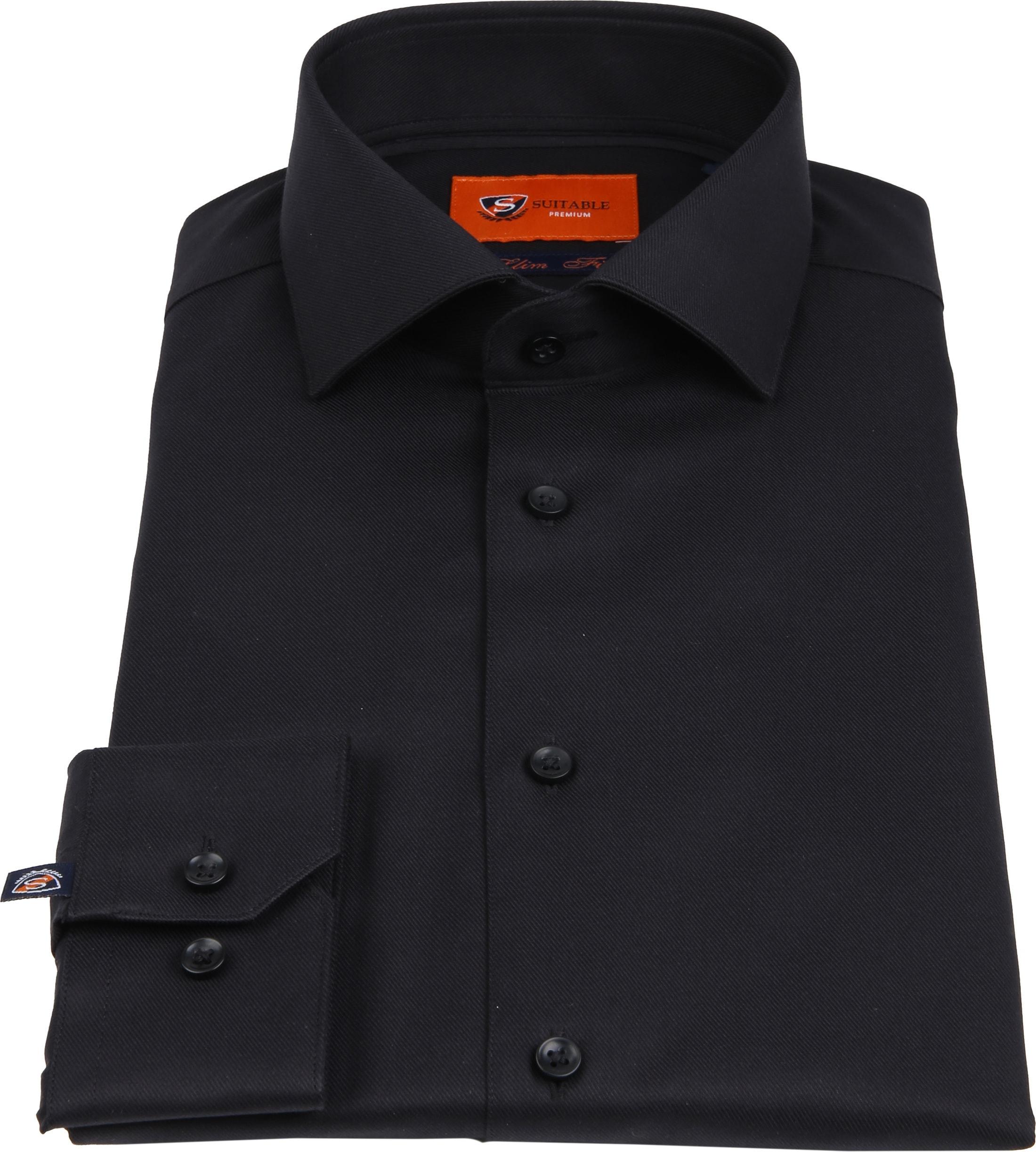 Suitable Shirt Black Pepita foto 3