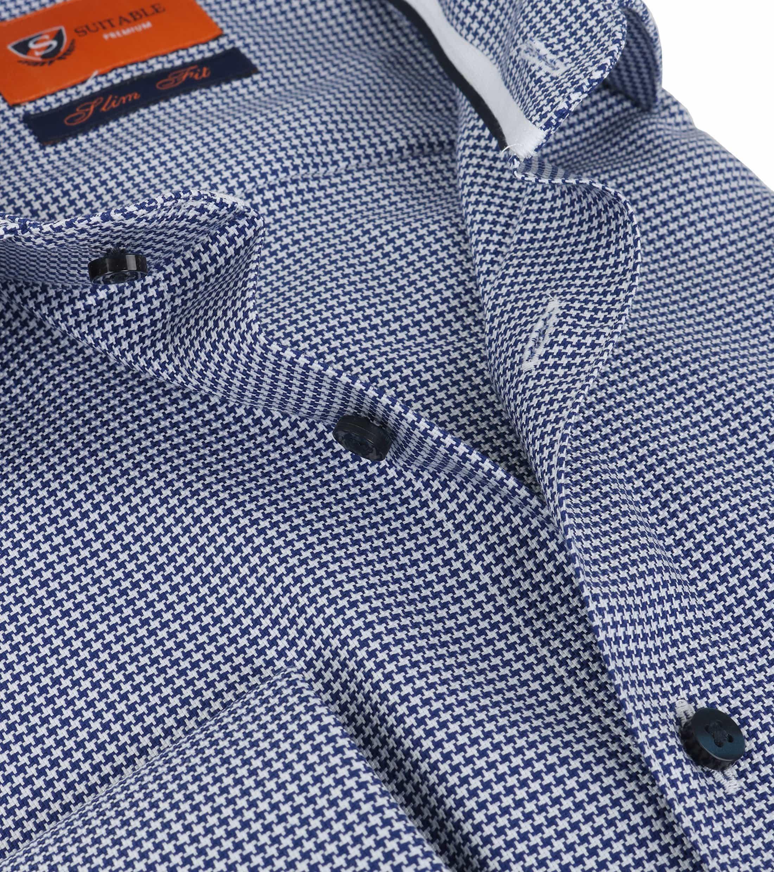Suitable Shirt Dark Blue SF foto 1