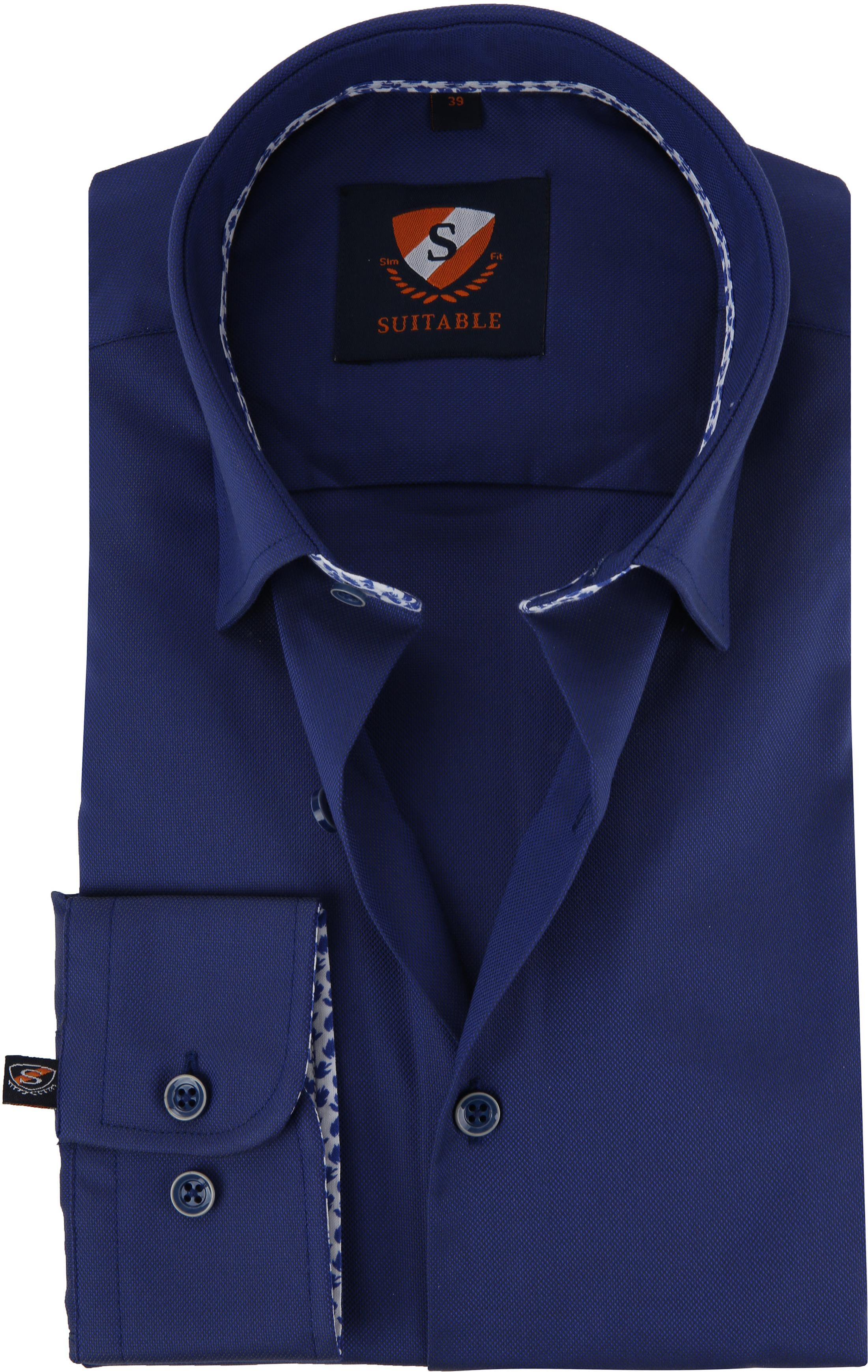 Suitable Shirt HBD Leaf Royal Navy foto 0