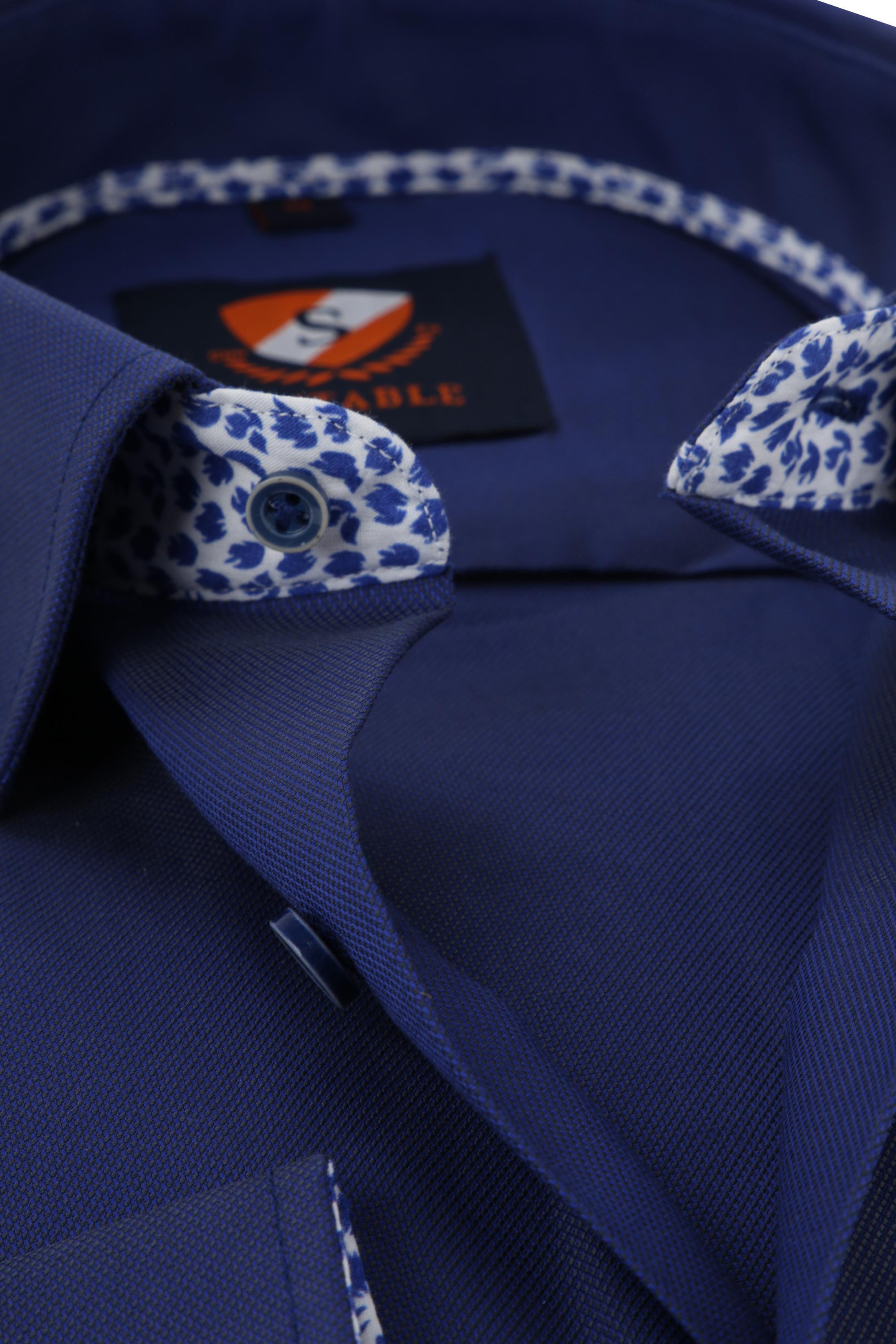 Suitable Shirt HBD Leaf Royal Navy foto 1