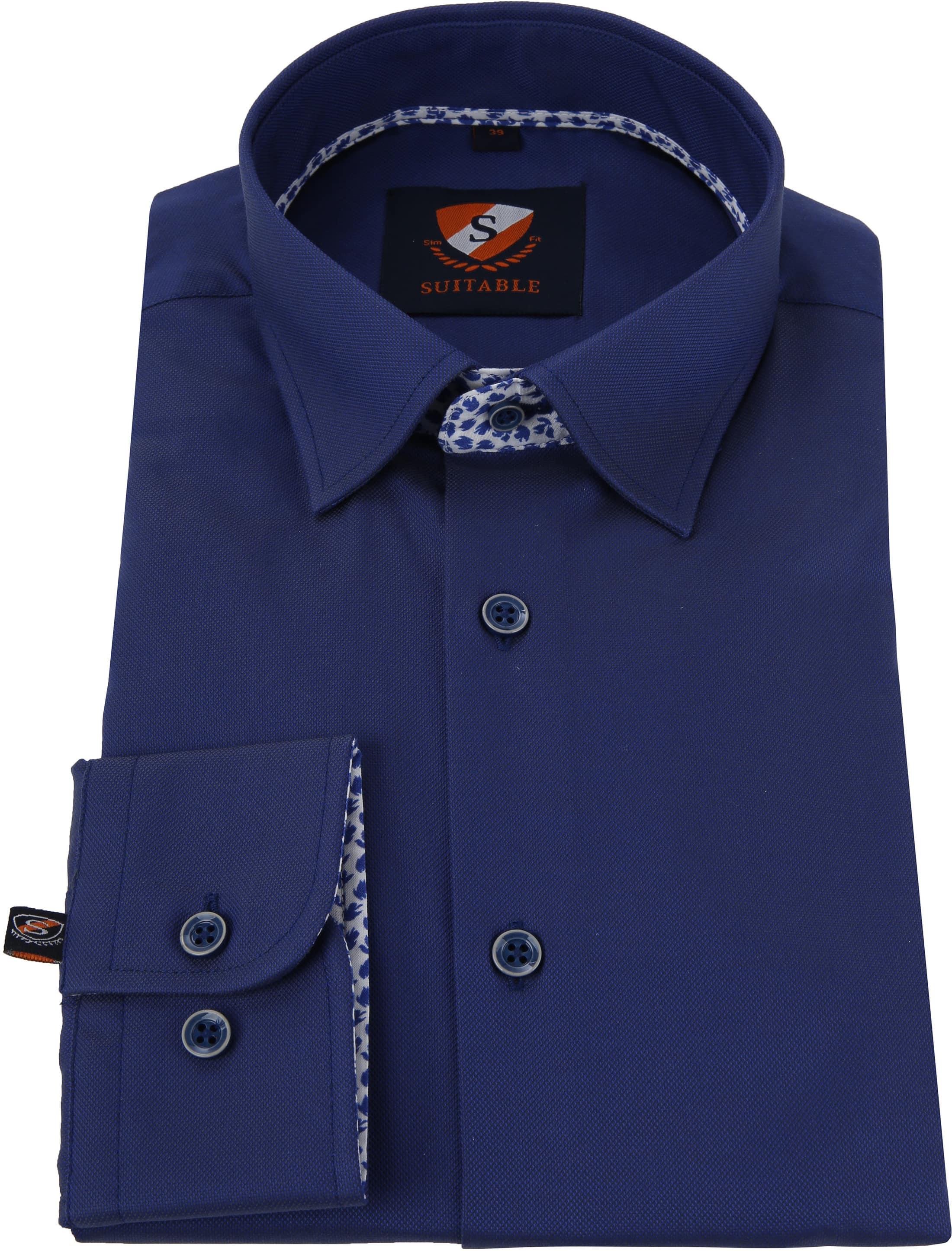 Suitable Shirt HBD Leaf Royal Navy foto 3