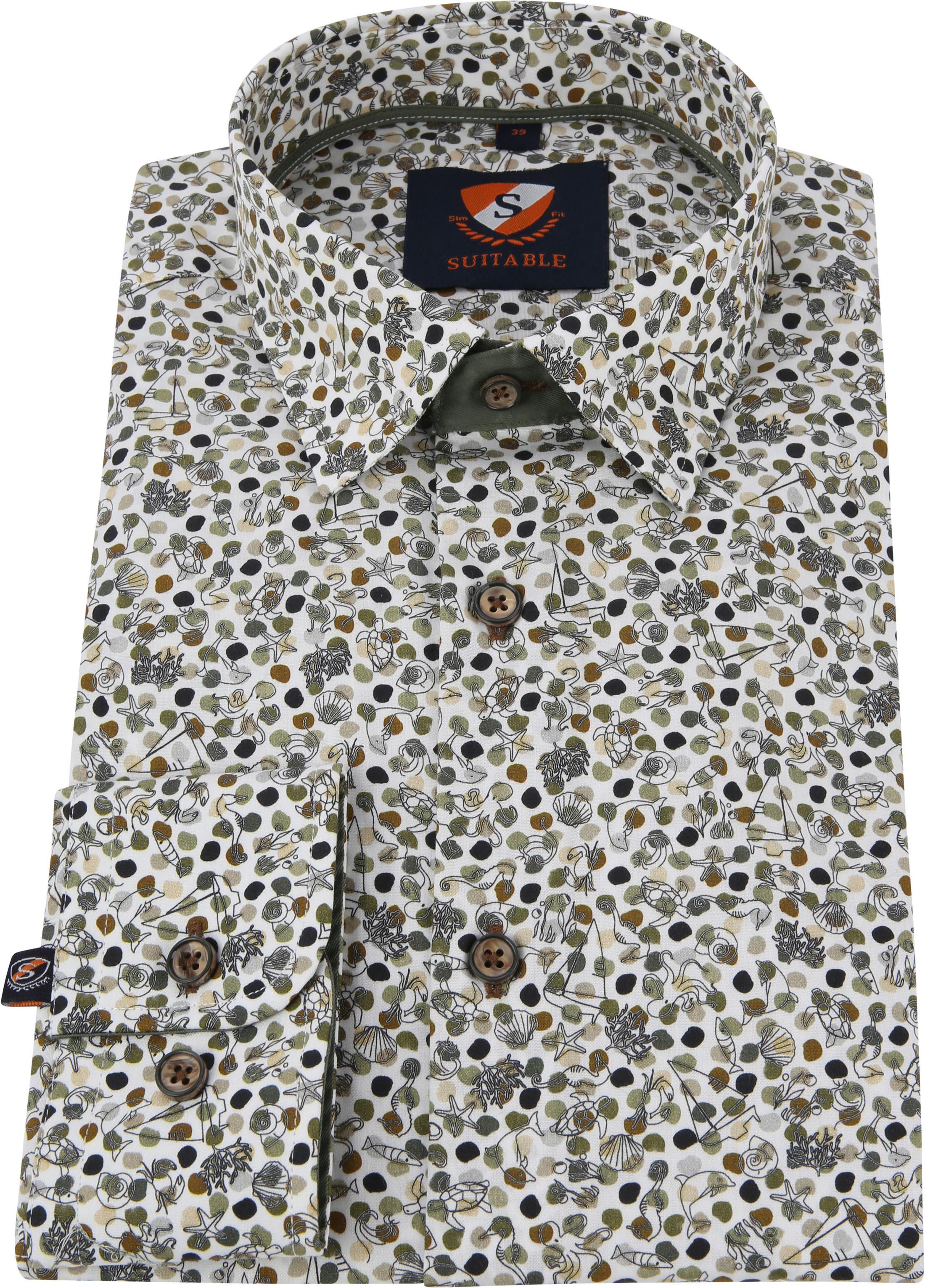 Suitable Shirt HBD Sea Print Green foto 3