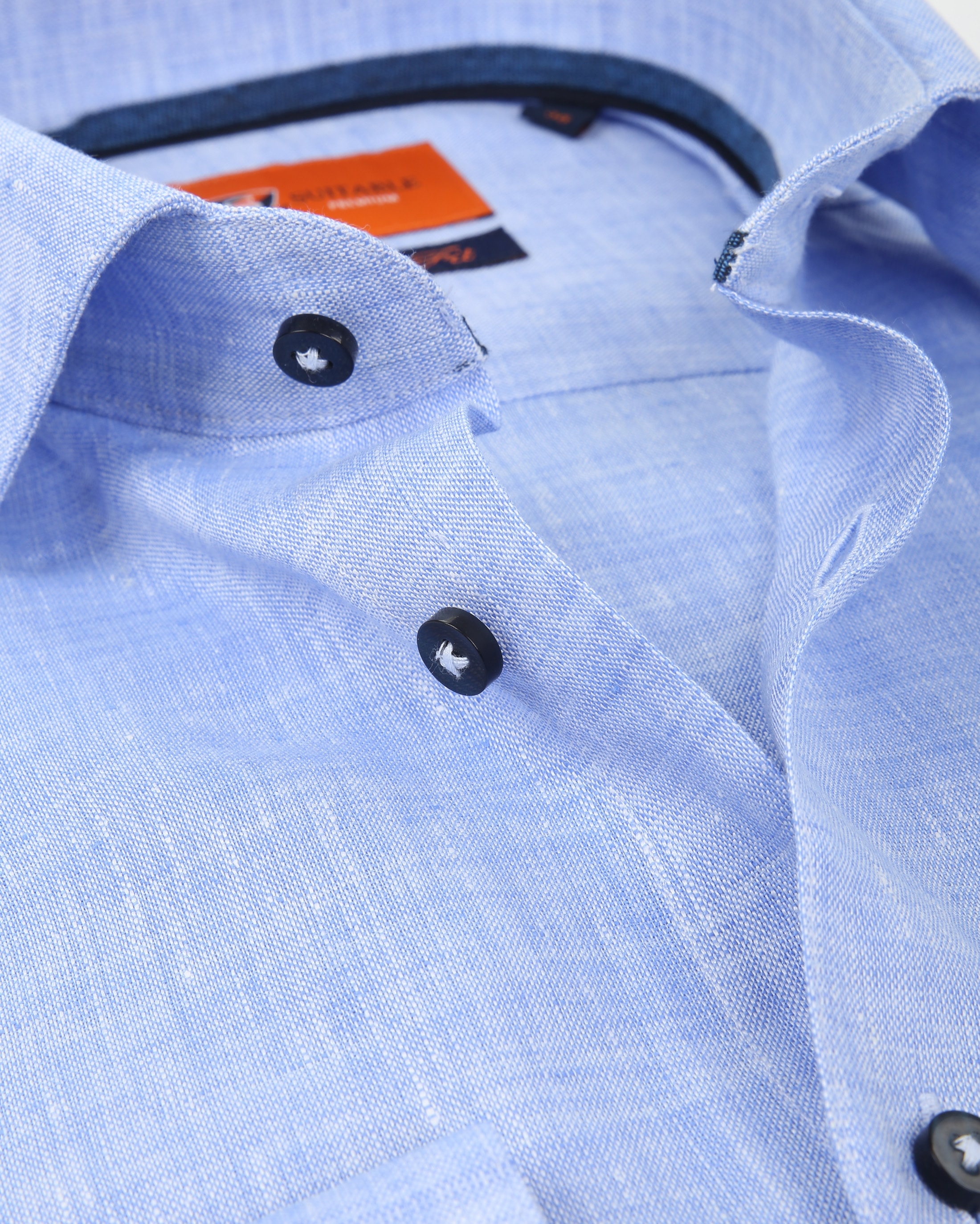 Suitable Shirt Linen Blue D81-12 foto 1
