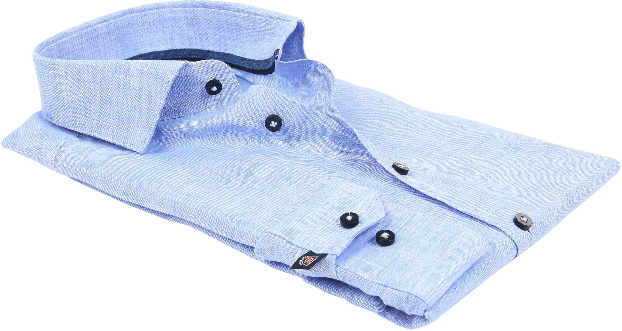 Suitable Shirt Linen Blue D81-12 foto 3