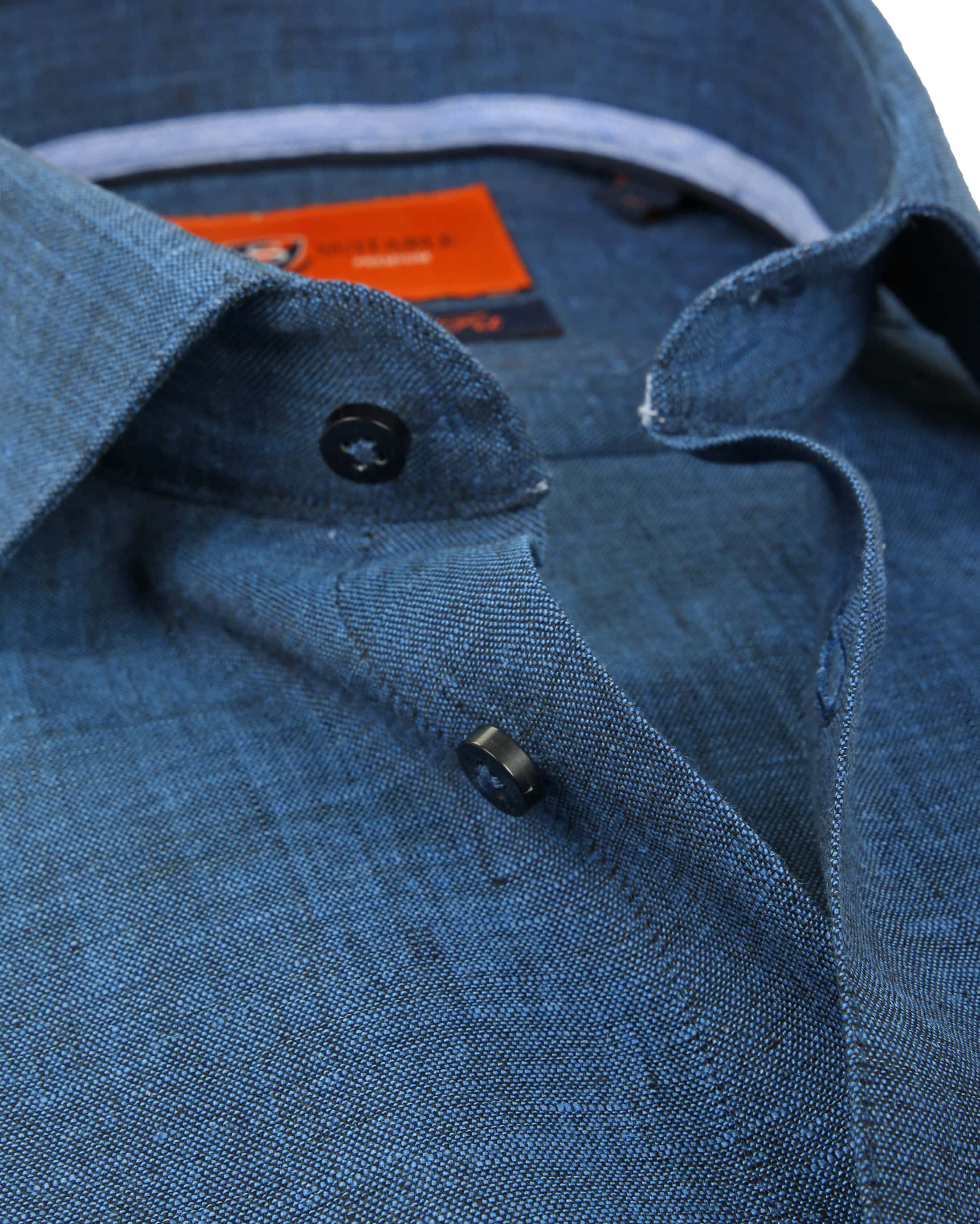 Suitable Shirt Linen Navy D81-11 foto 1