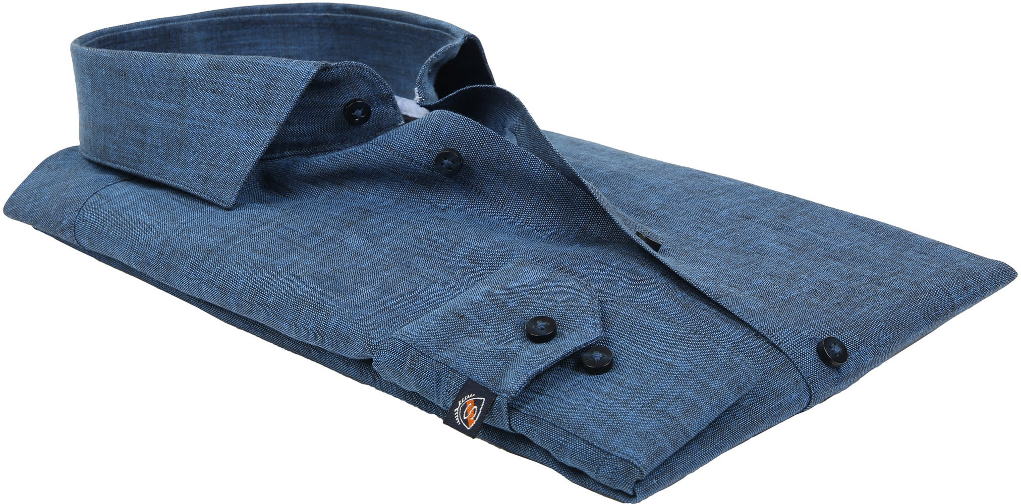 Suitable Shirt Linen Navy D81-11 foto 3