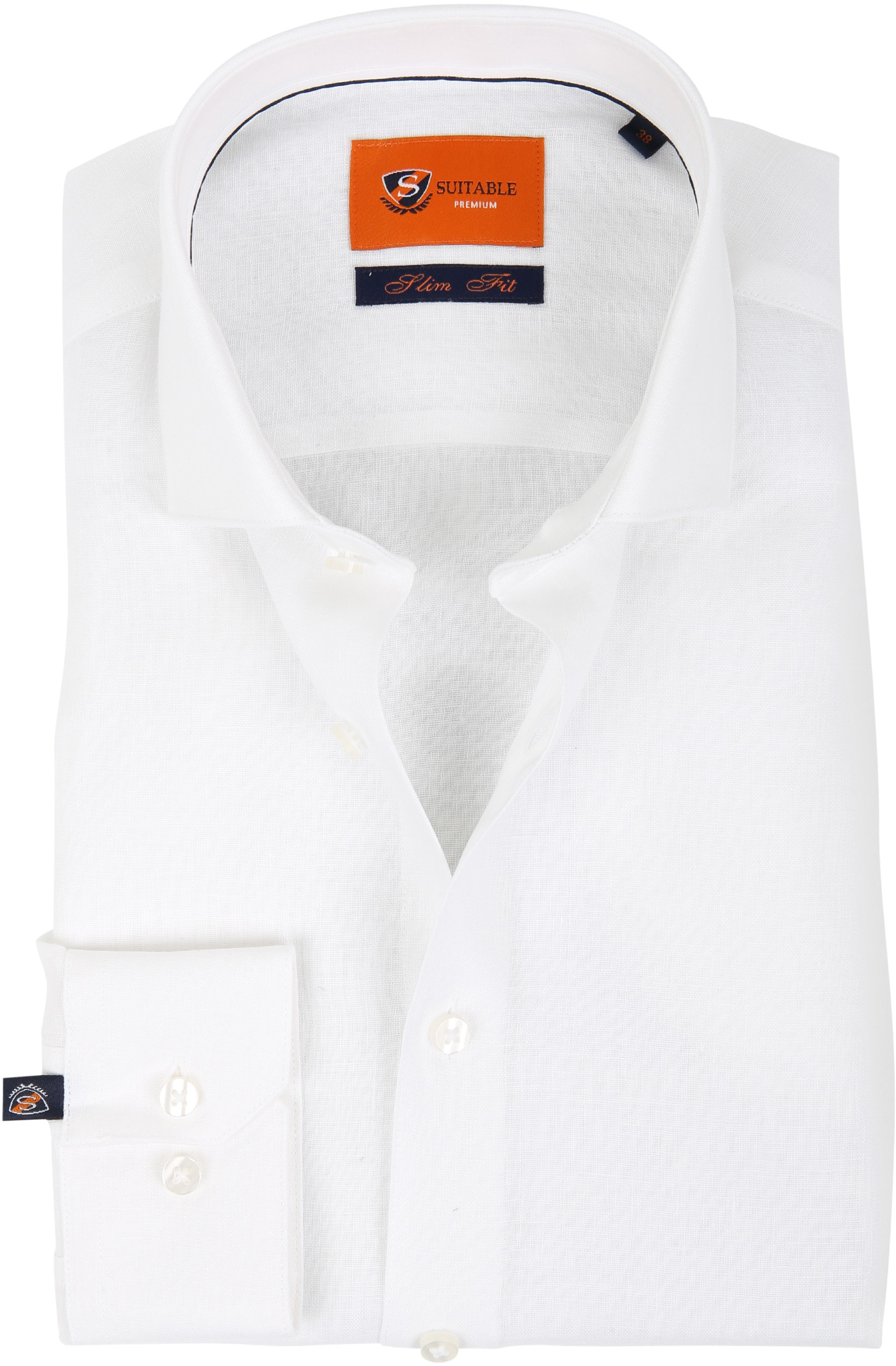 Suitable Shirt Linen White D81-13 foto 0