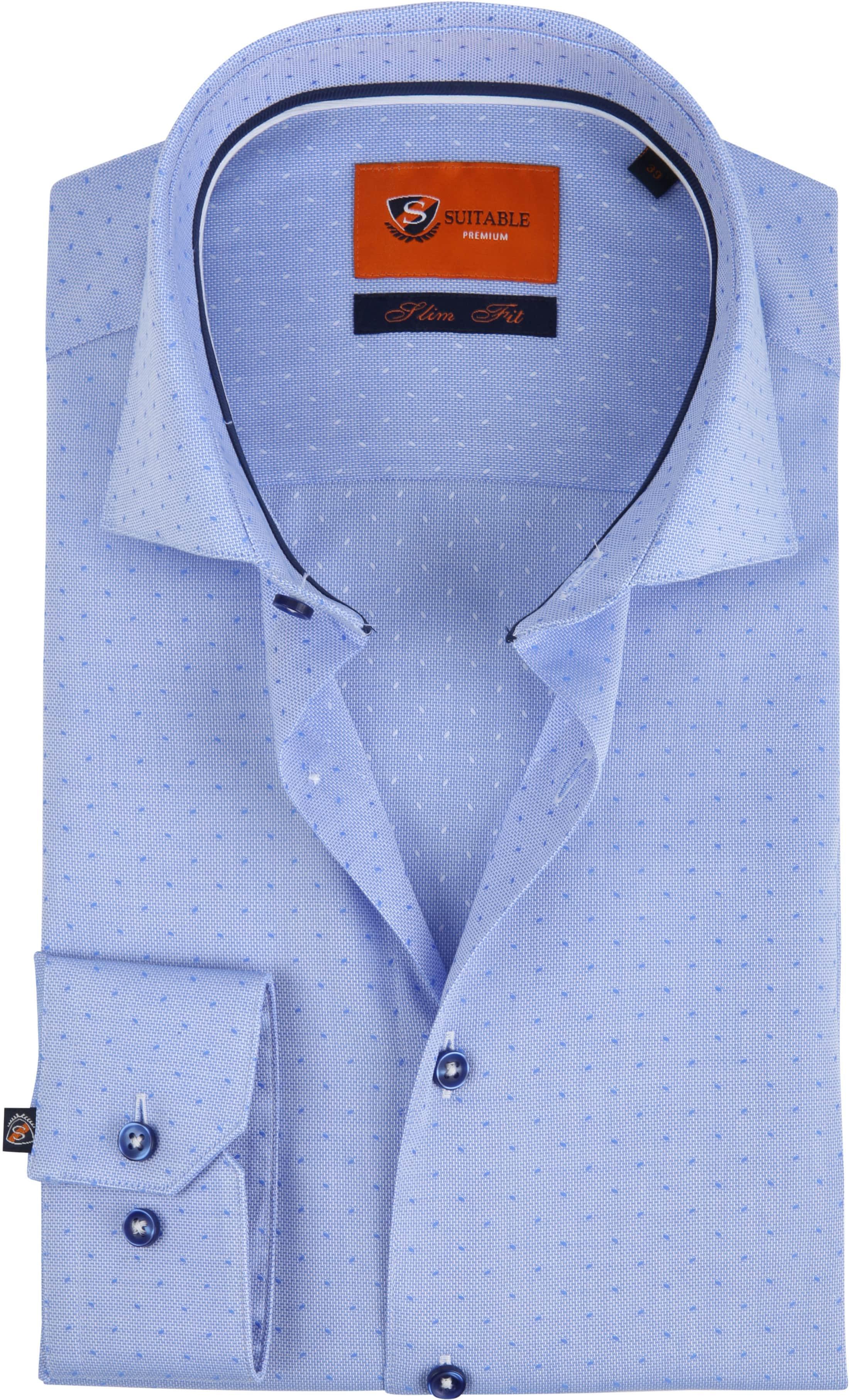 Suitable Shirt Oxford Dots Blue foto 0