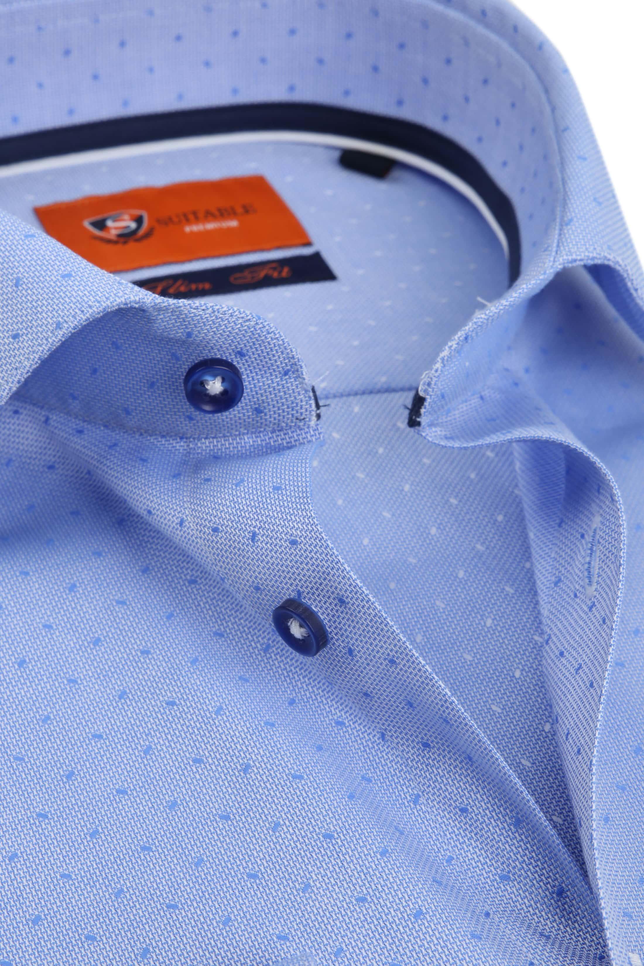 Suitable Shirt Oxford Dots Blue foto 1